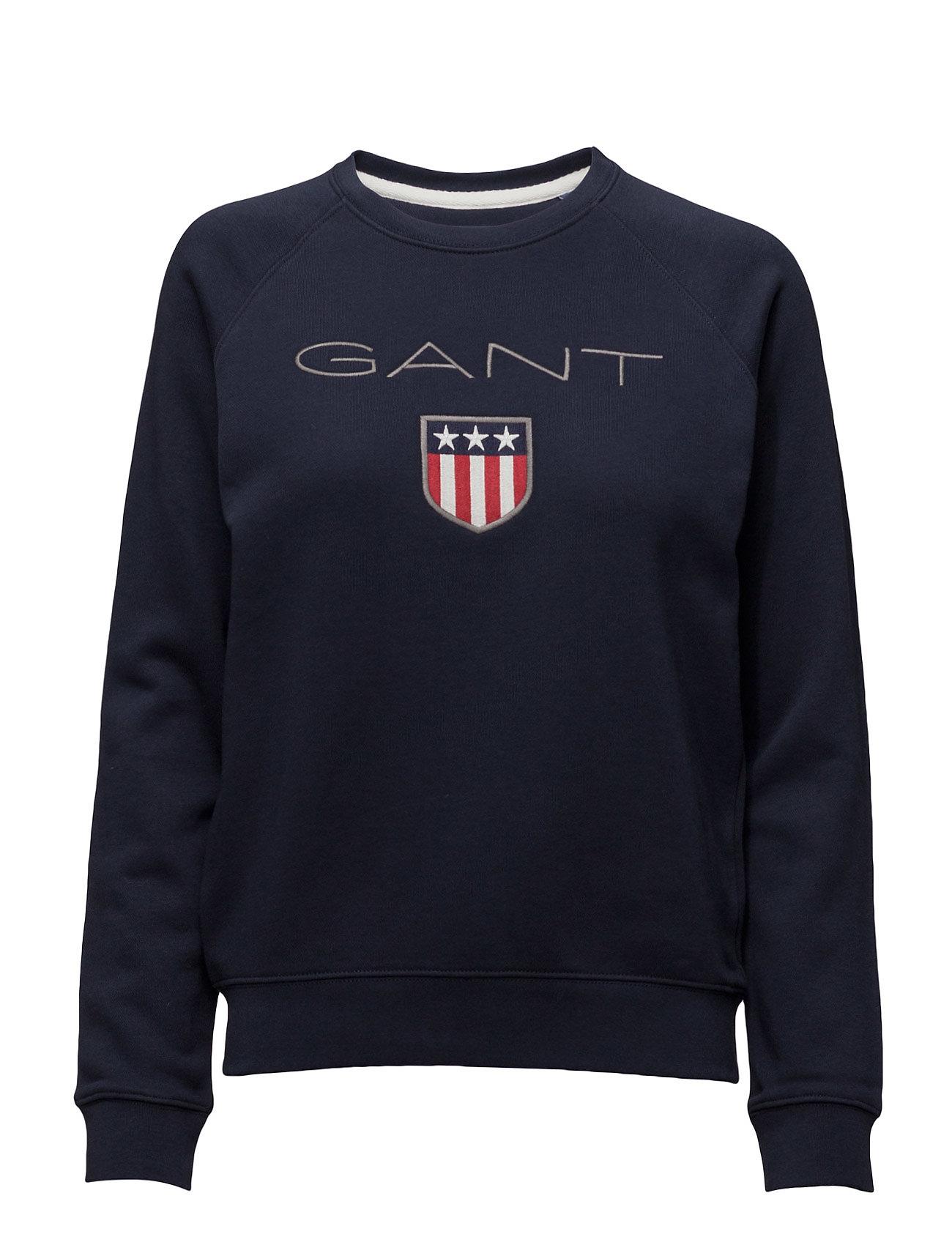 GANT GANT SHIELD LOGO C-NECK SWEAT - EVENING BLUE