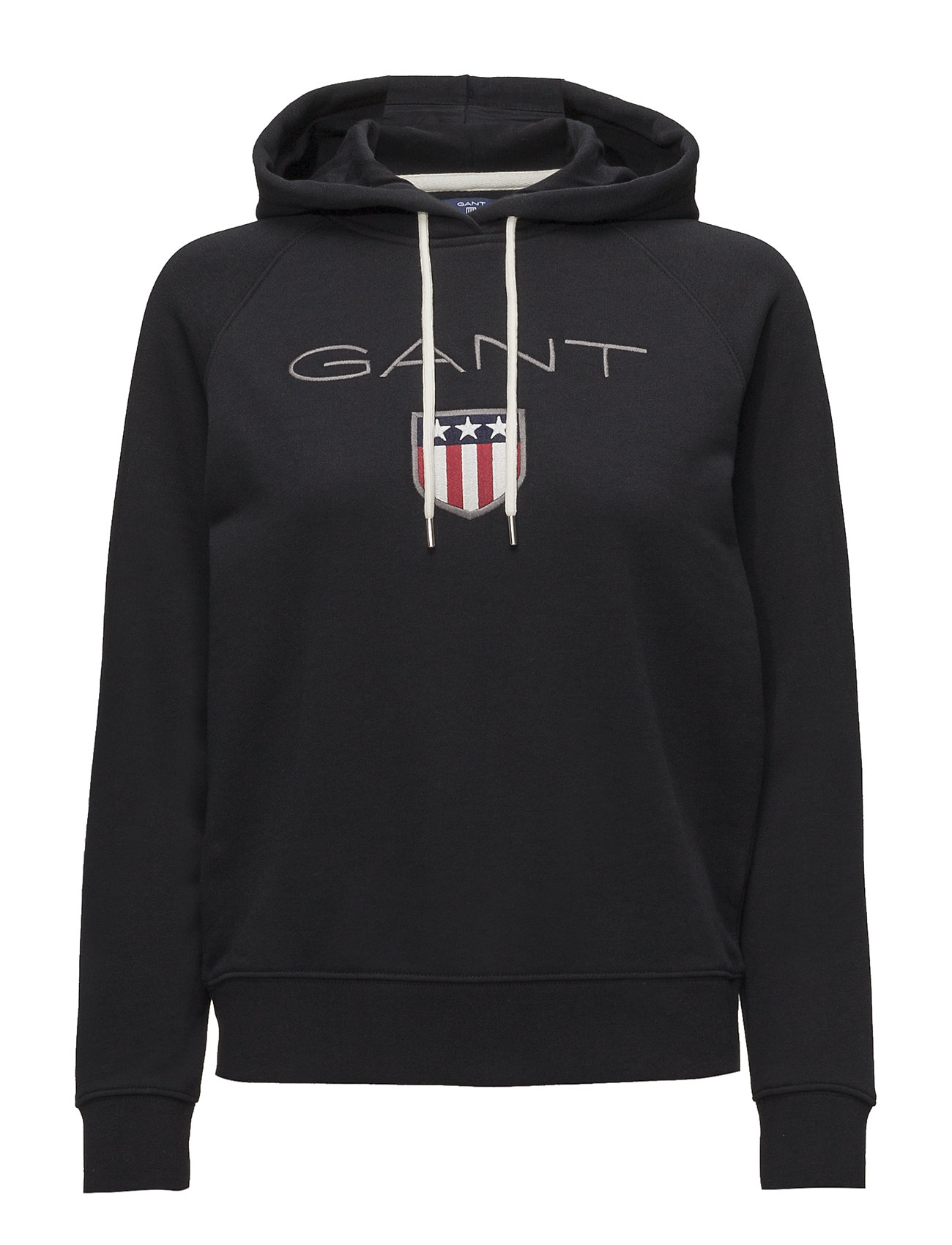 GANT GANT SHIELD SWEAT HOODIE - BLACK