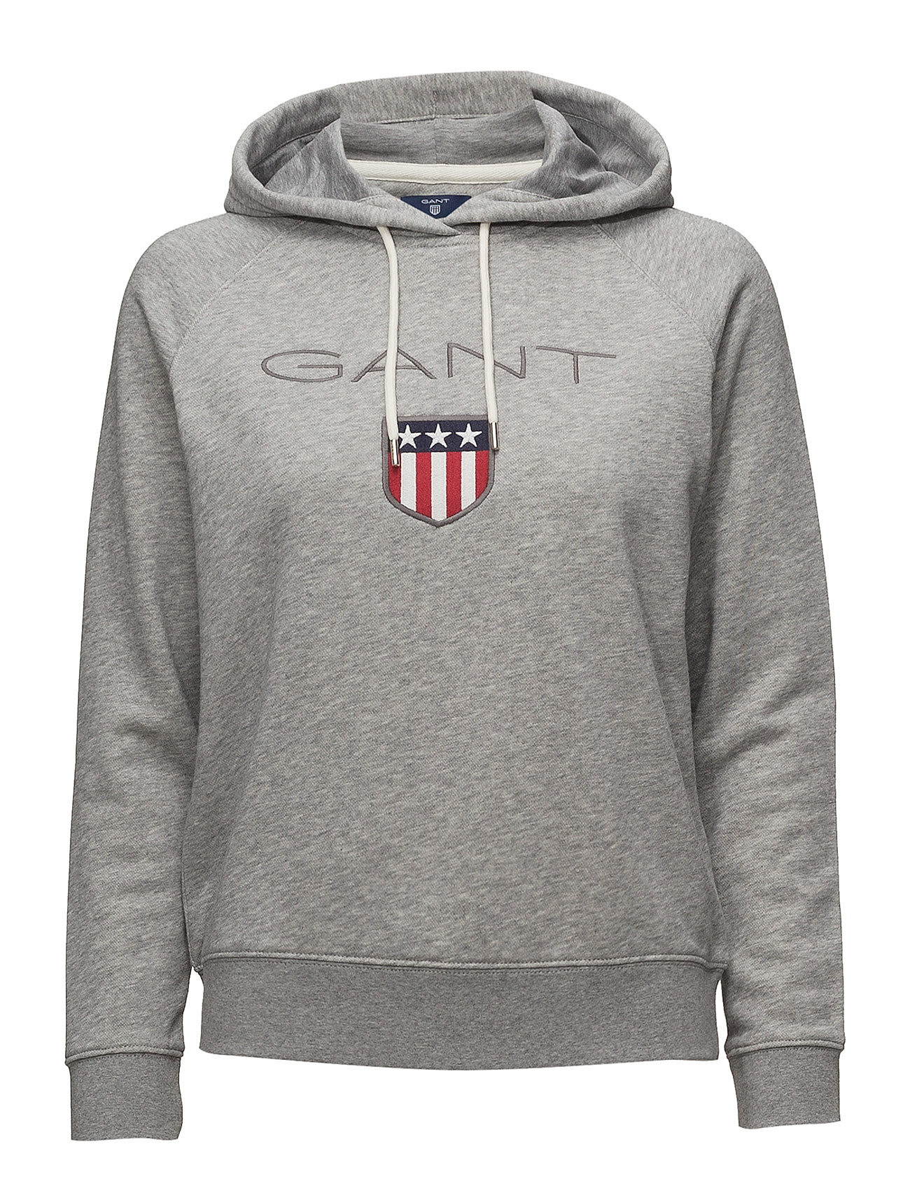 GANT GANT SHIELD SWEAT HOODIE - GREY MELANGE