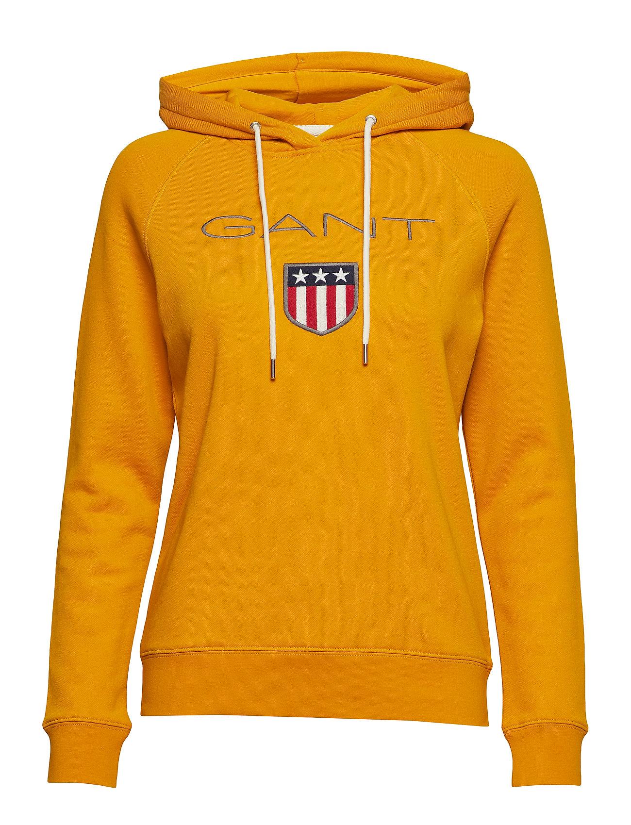 Gant GANT SHIELD SWEAT HOODIE - IVY GOLD