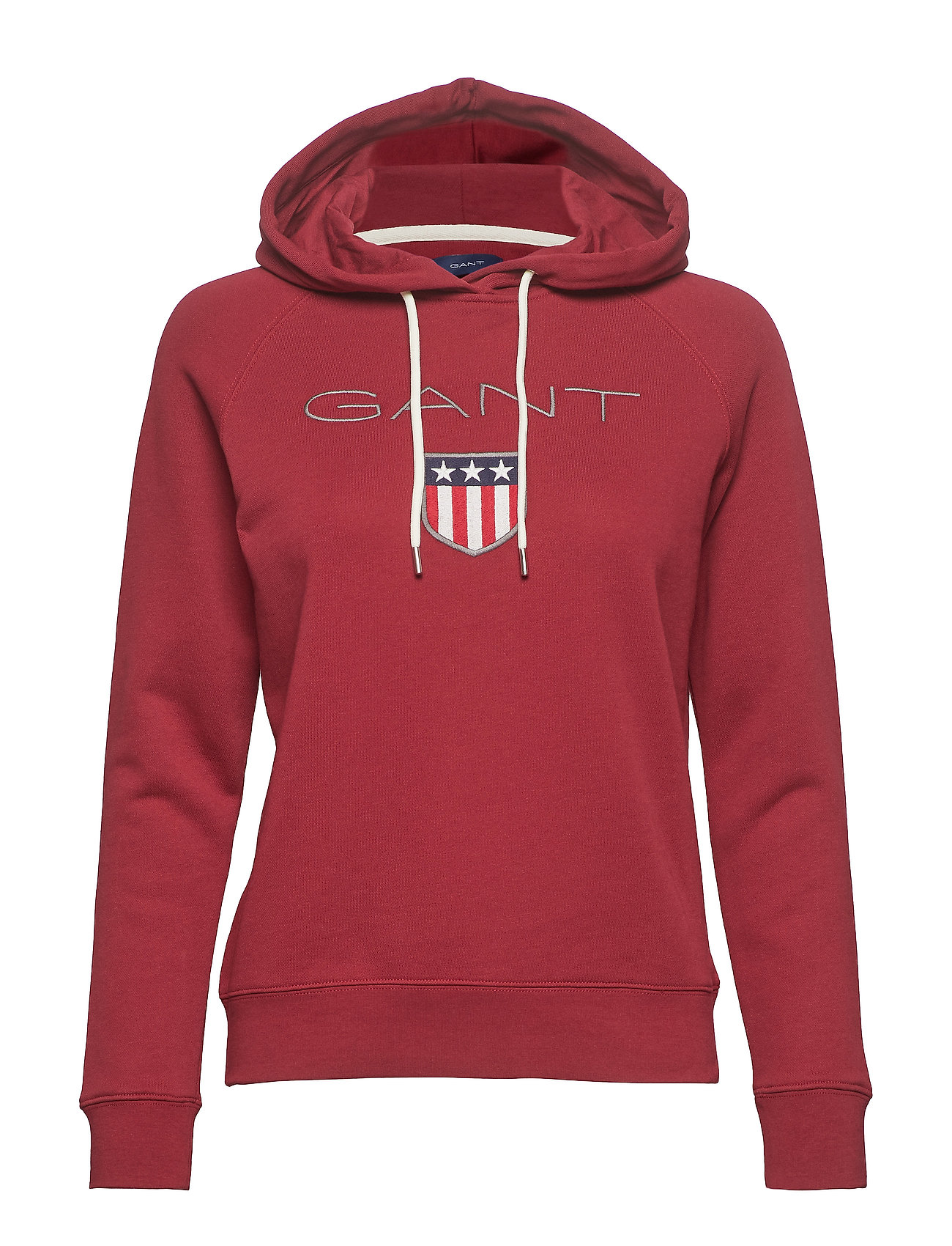 GANT GANT SHIELD SWEAT HOODIE - MAHOGNY RED