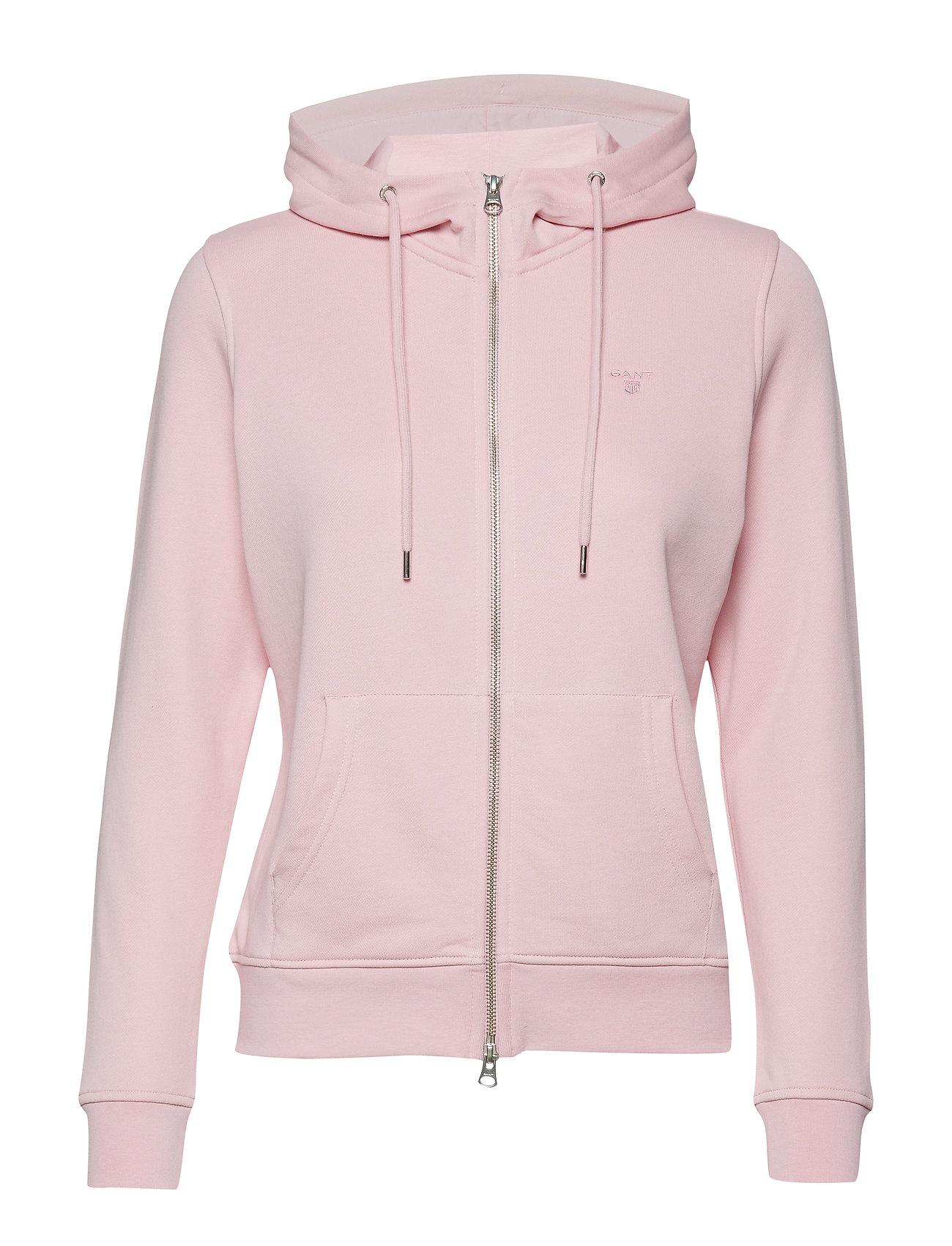 GANT Tonal Shield Full Zip Hoodie Hoodie Pullover Pink GANT