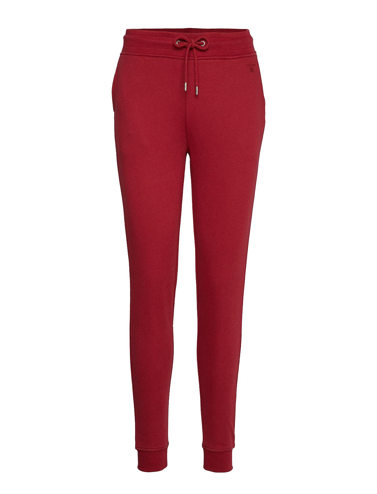 Gant TONAL SHIELD SWEAT PANTS - MAHOGNY RED