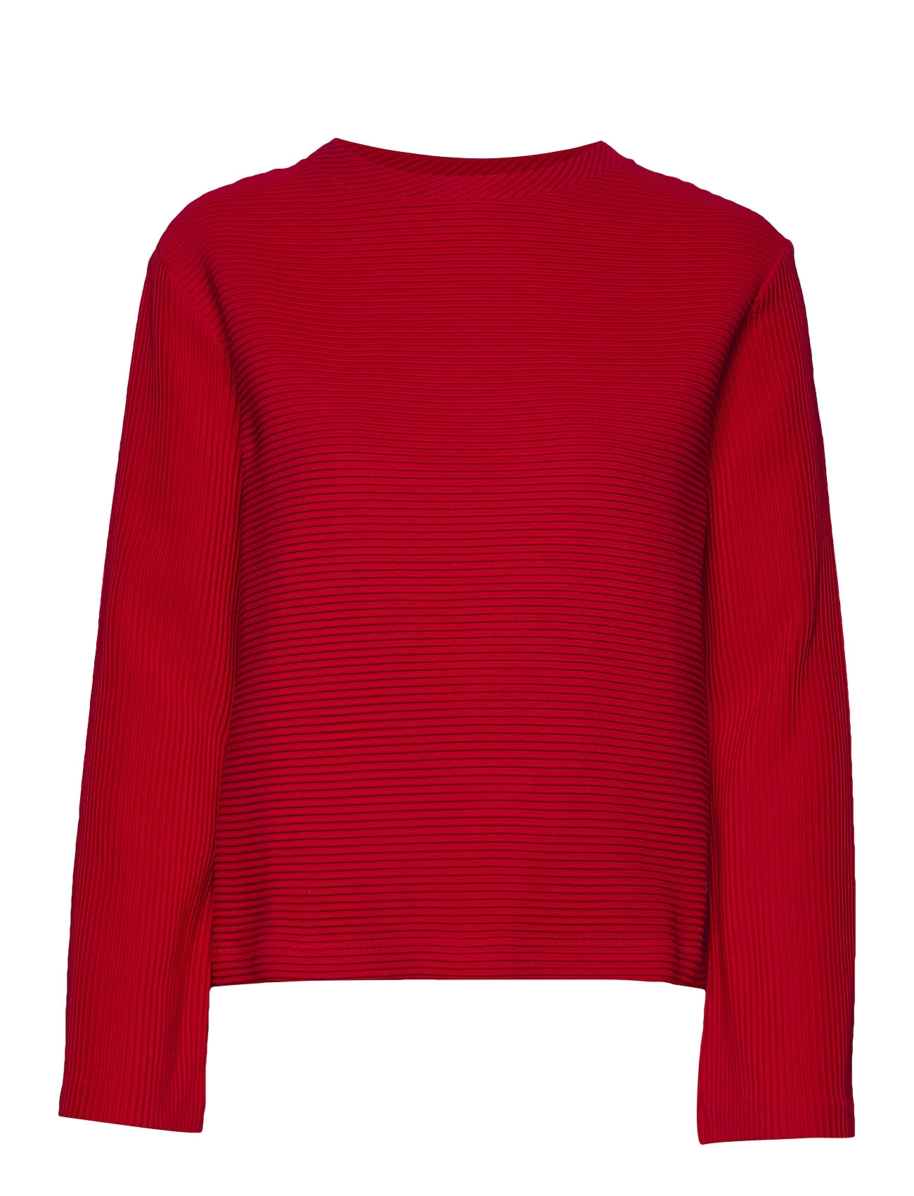Gant D1. RIB STRUCTURE SWEAT - BRIGHT RED