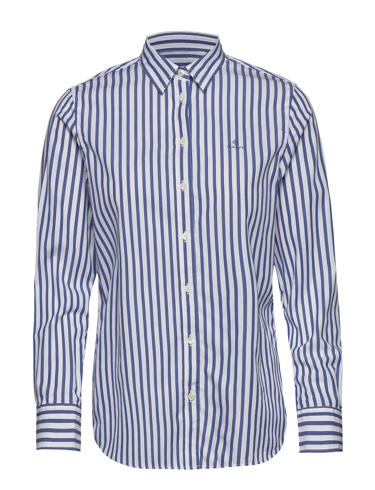 Gant THE BROADCLOTH STRIPED SHIRT - BRIGHT COBALT