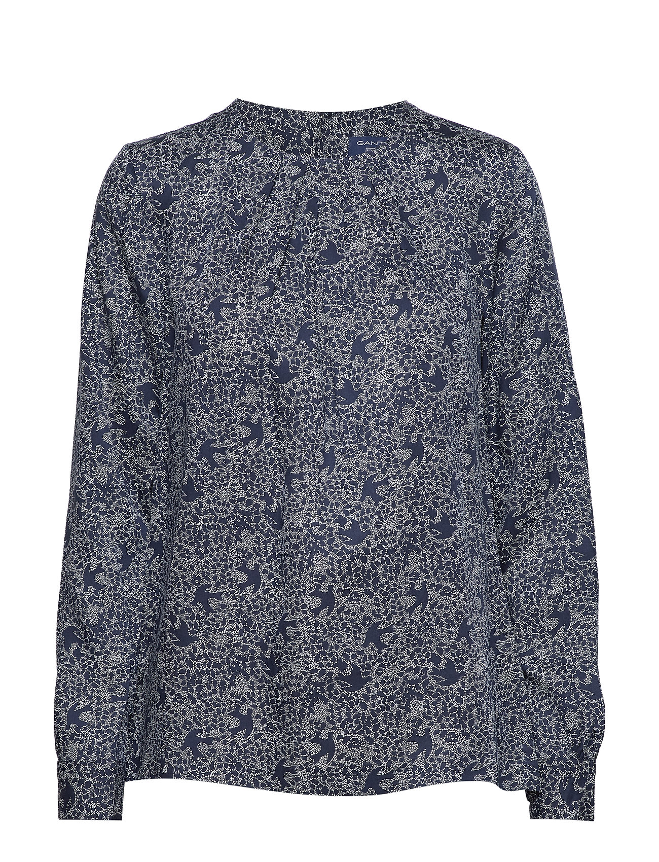 GANT O3. FEATHERWEIGHT PRINTED BLOUSE - MARINE