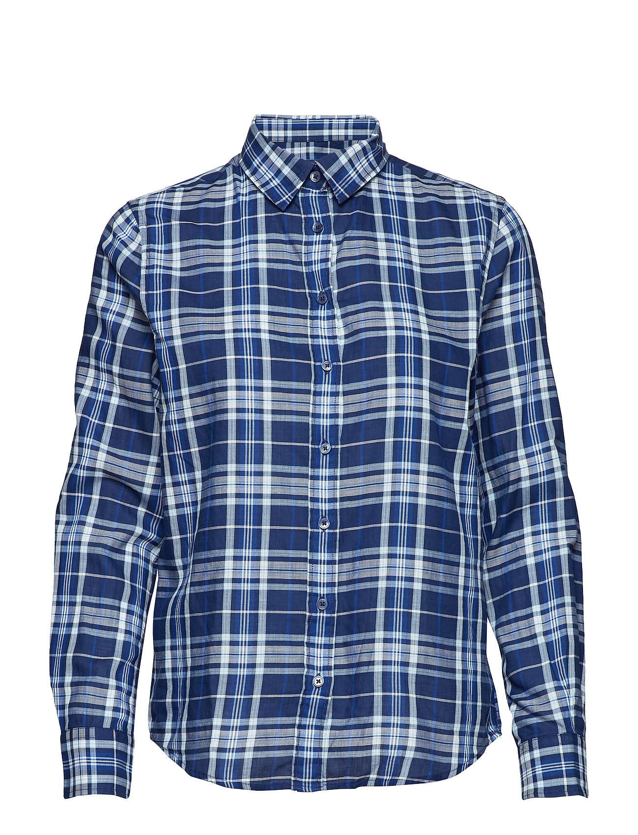 Gant O1. FINE TWILL SHIRT - PERSIAN BLUE