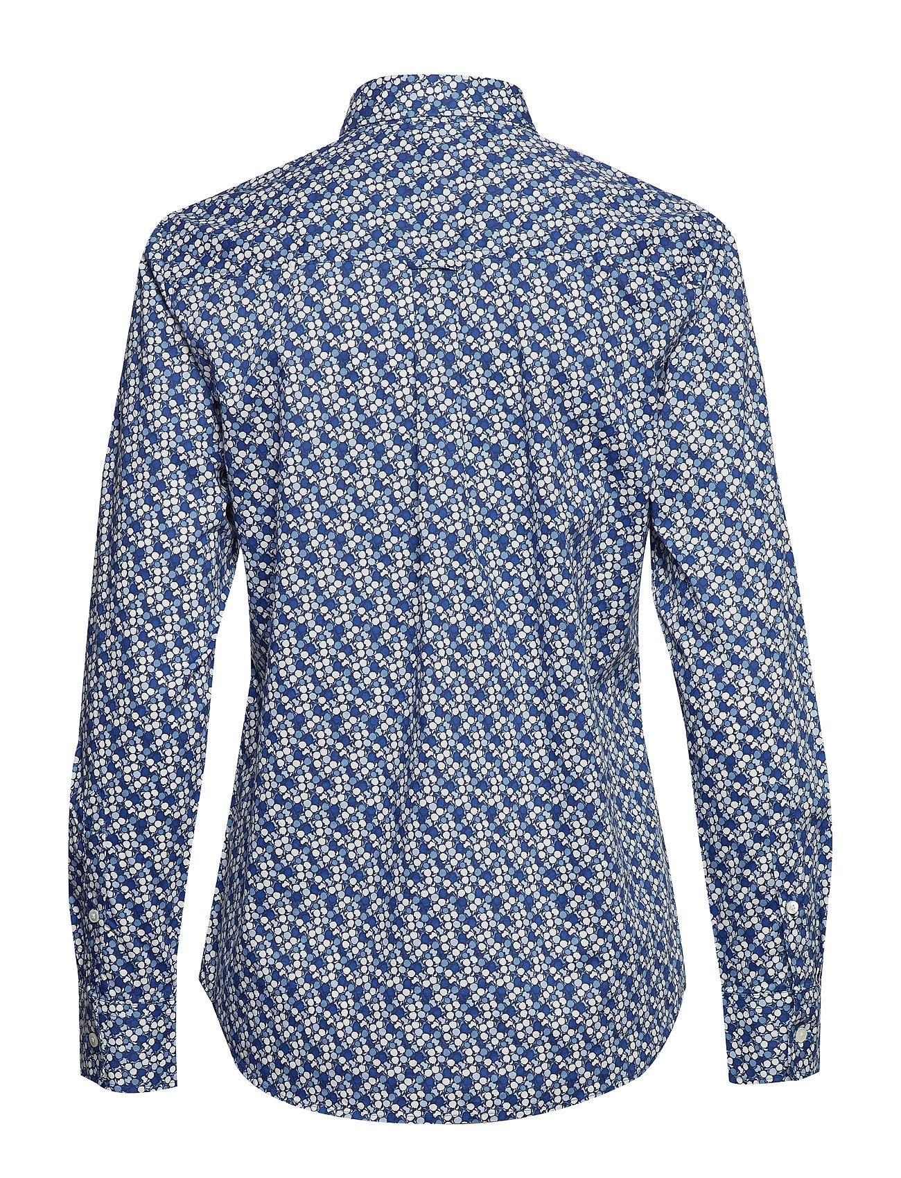 Gant - D1. AUTUMN PRINT STRETCH BC SHIRT - pitkähihaiset paidat - crisp blue