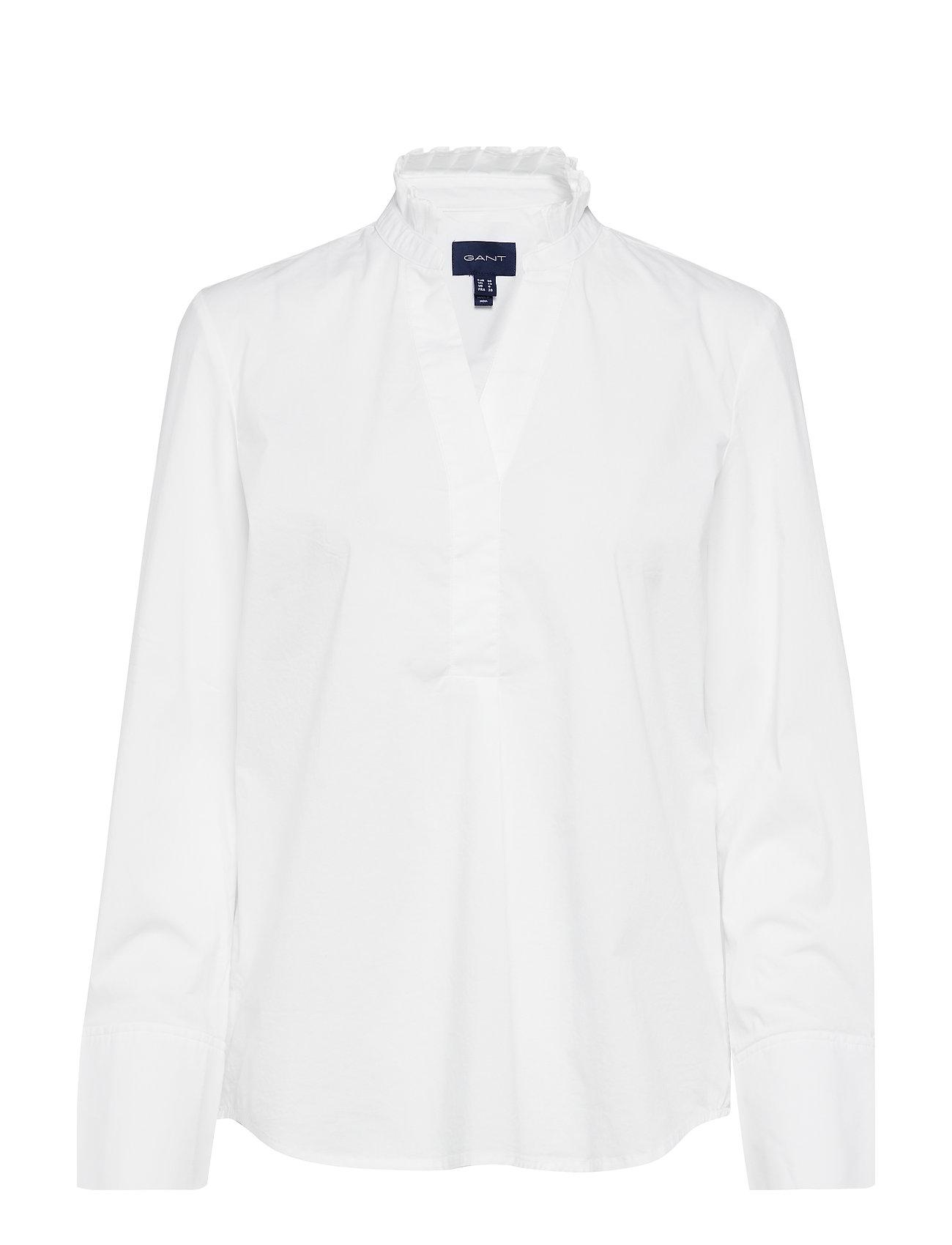 17c26912 D1. Tp Frill Shirt (White) (99.99 €) - GANT - | Boozt.com