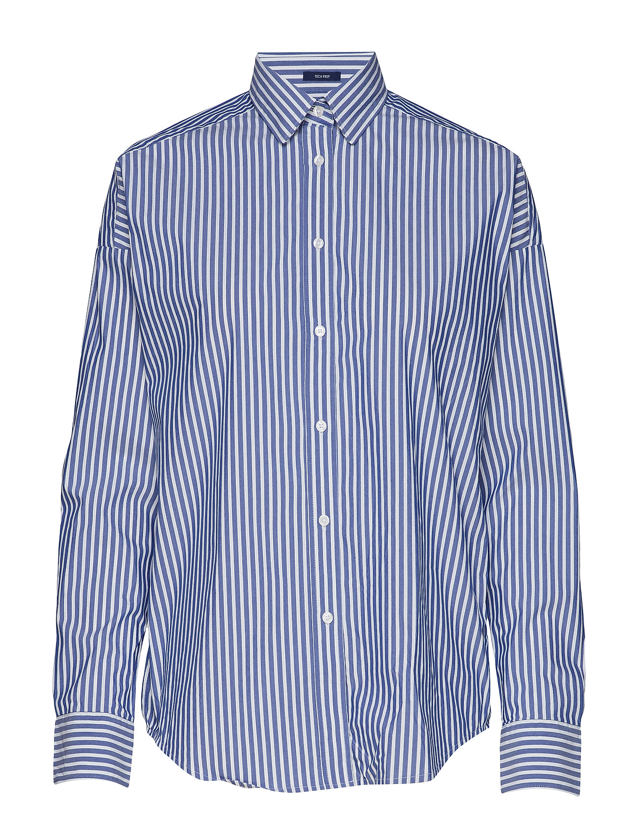 GANT D1. TP BC STRIPED OVERSIZED SHIRT - COLLEGE BLUE