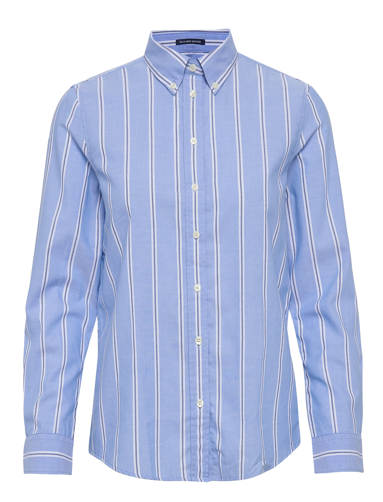 Gant D1. TP STRIPED OXORD BD SHIRT - PACIFIC BLUE