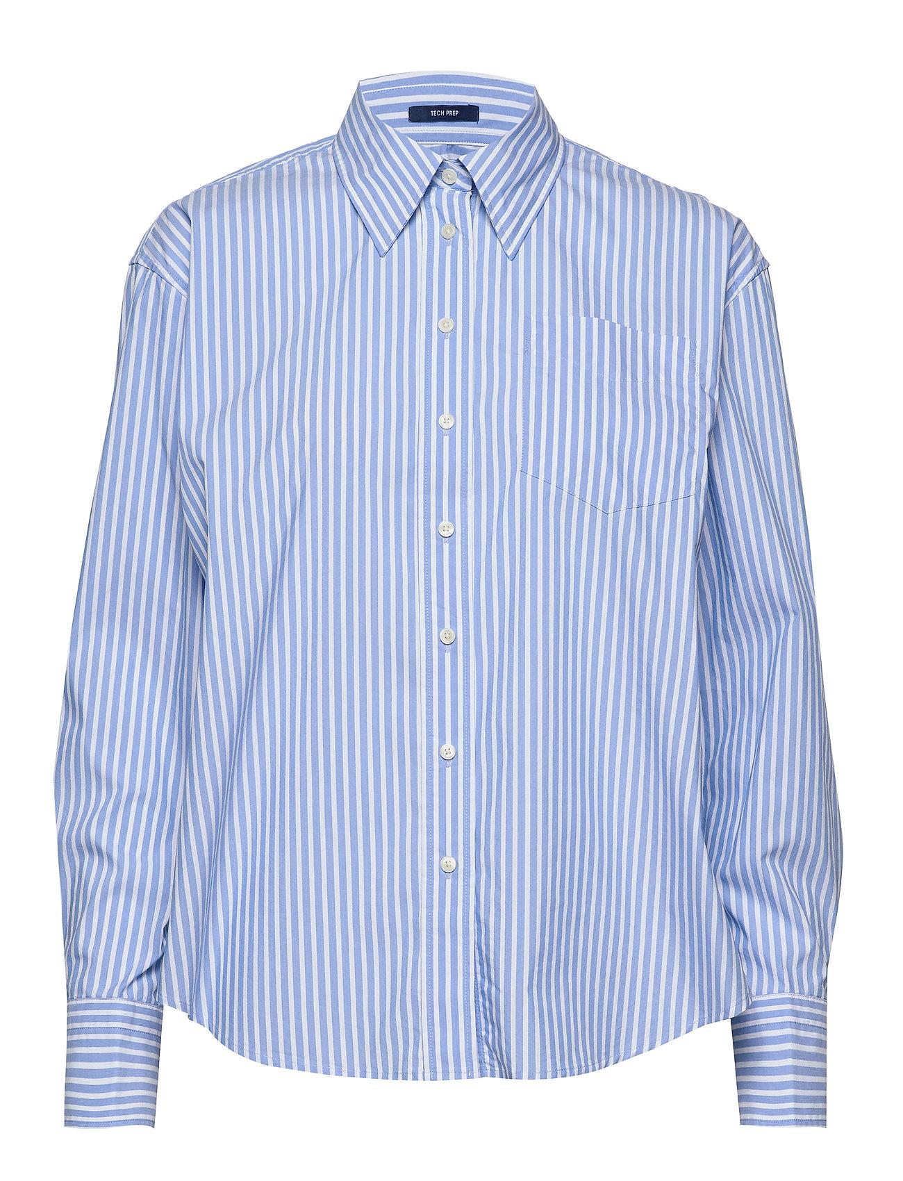 Gant D1. TP STRIPED BUSINESS EXB SHIRT - PACIFIC BLUE