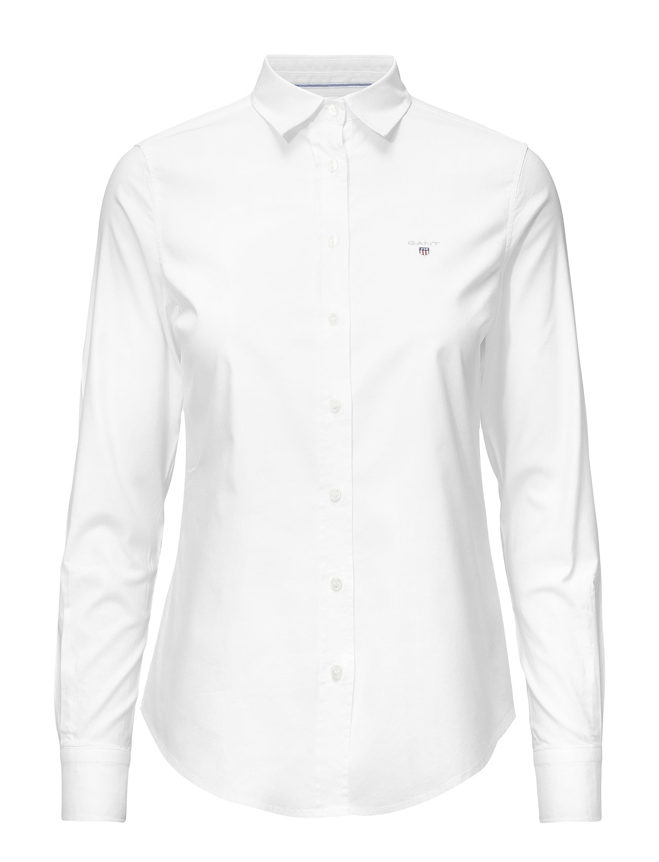 GANT STRETCH OXFORD SOLID SLIM SHIRT - WHITE