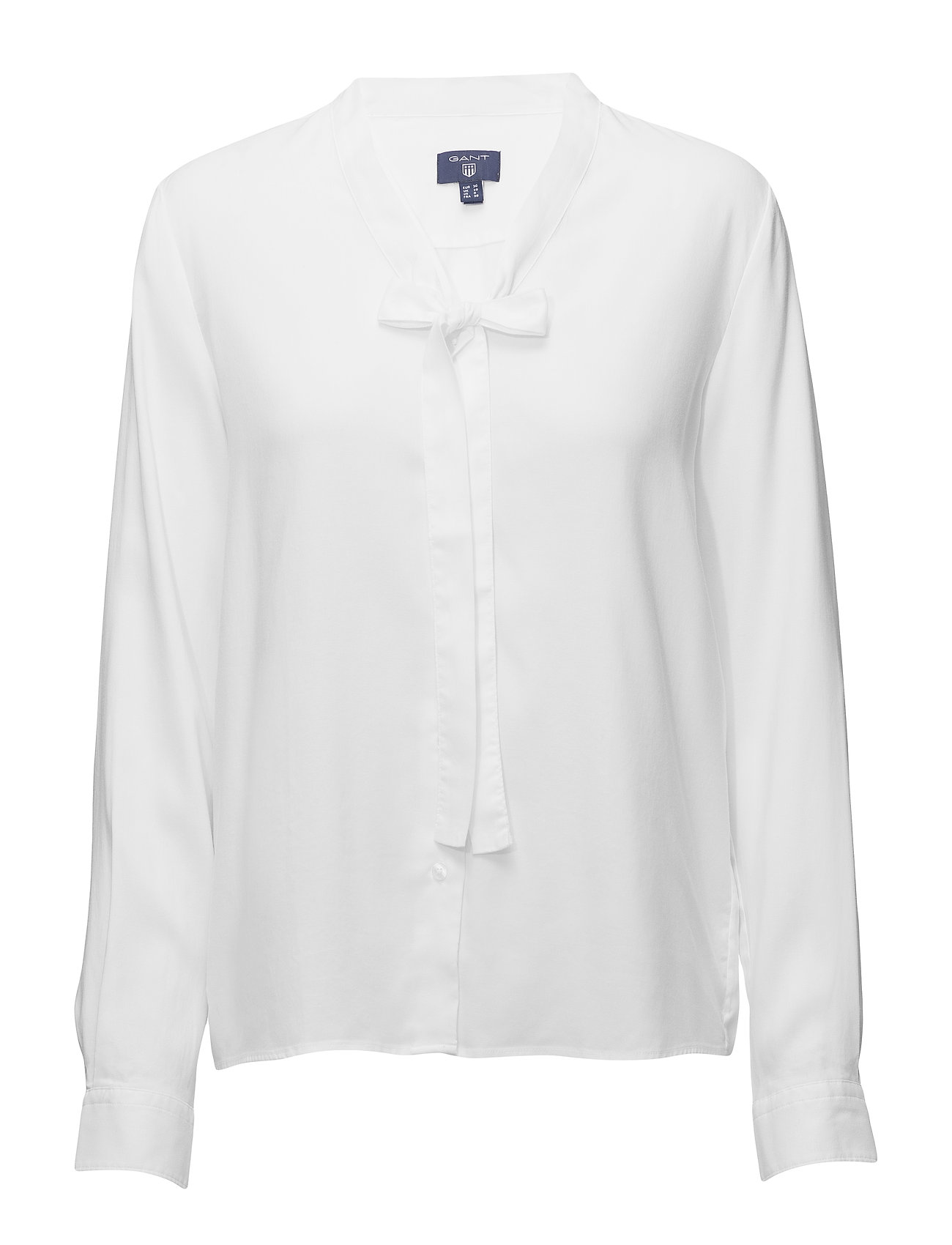 Gant O1. TP OXFORD BOW BLOUSE - WHITE
