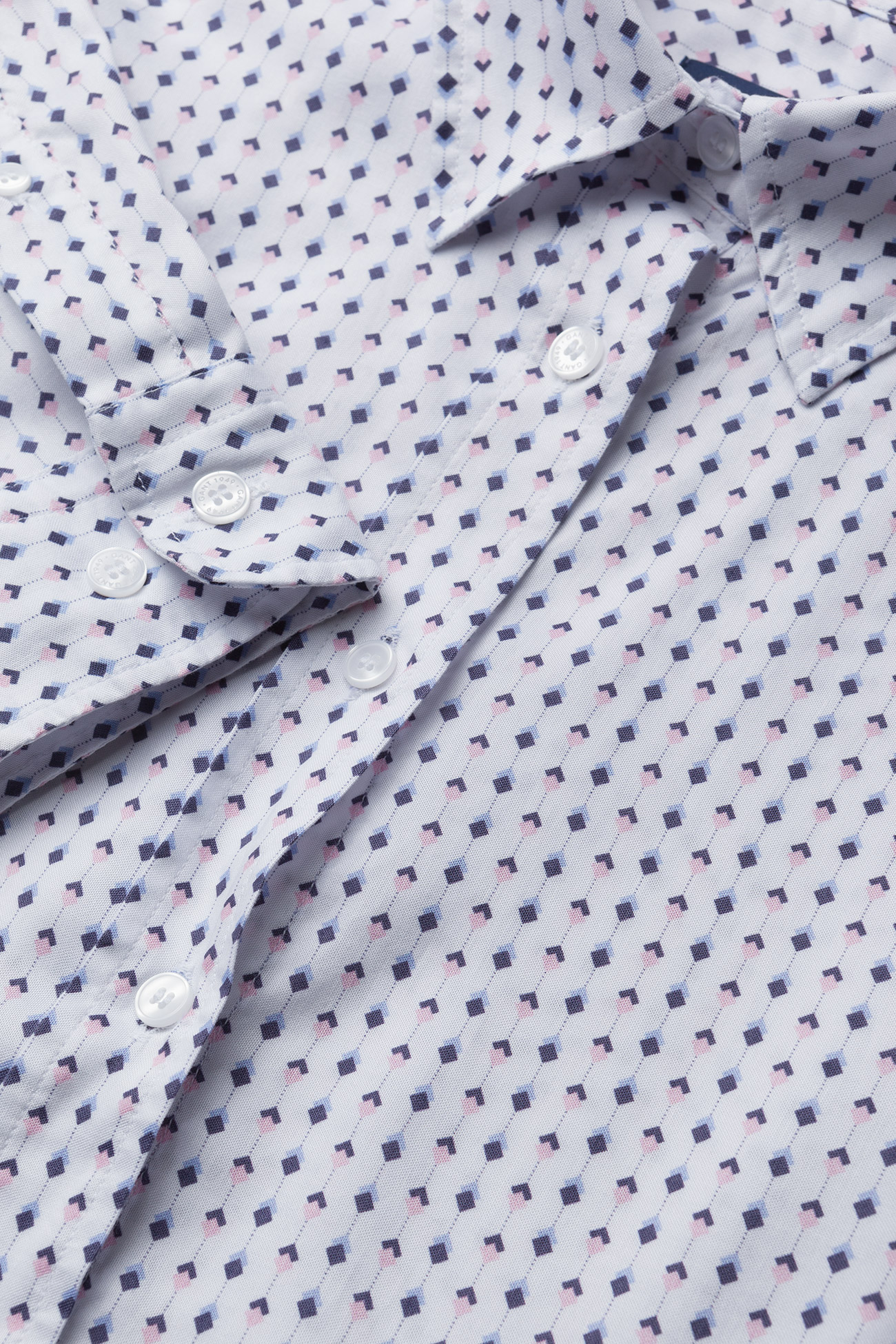 O1. Tp Oxford Printed Shirt (Shadow Rose) (55 €) - GANT joubL
