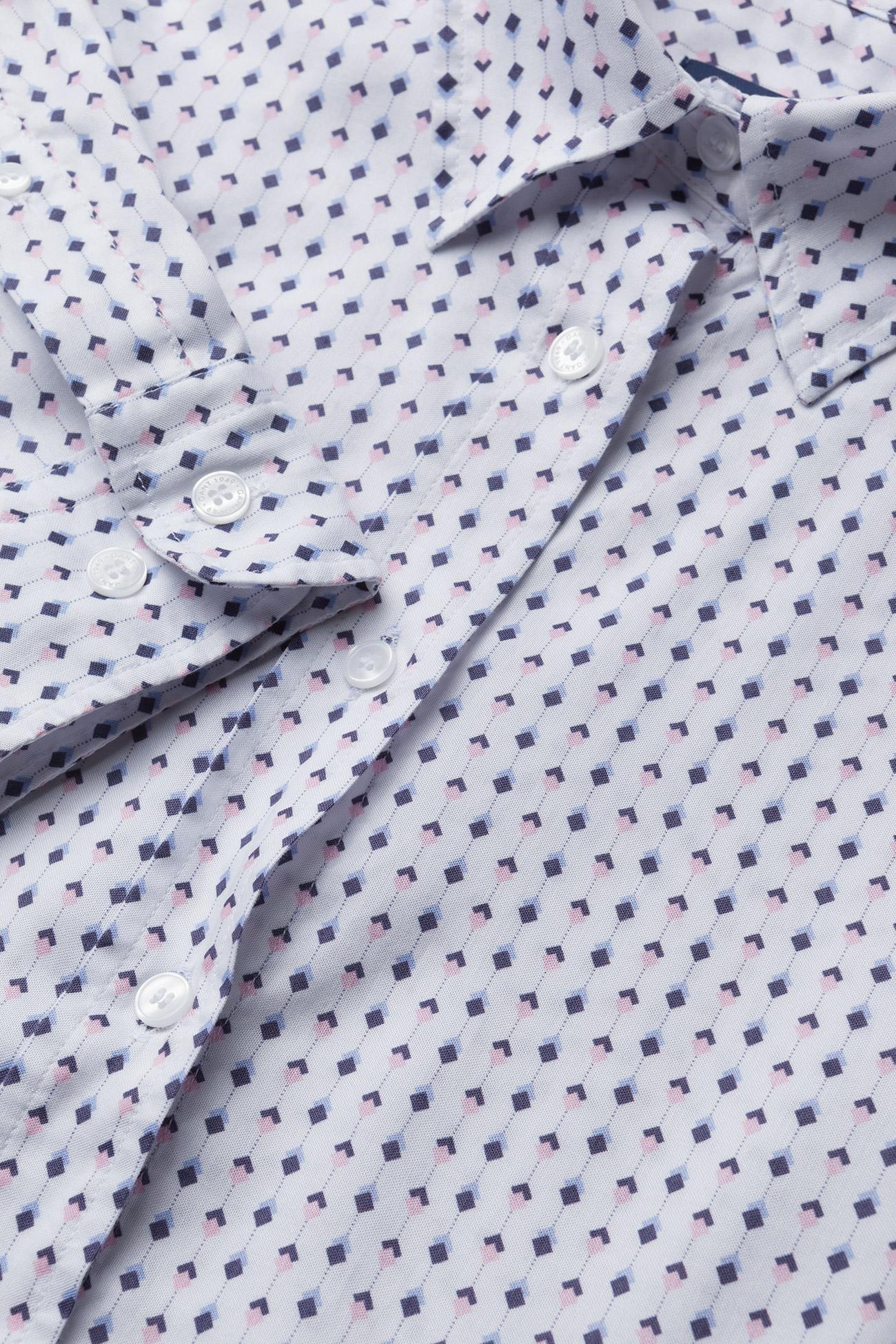 GANT O1. TP OXFORD PRINTED SHIRT - Bluzki & Koszule SHADOW ROSE - Kobiety Odzież.