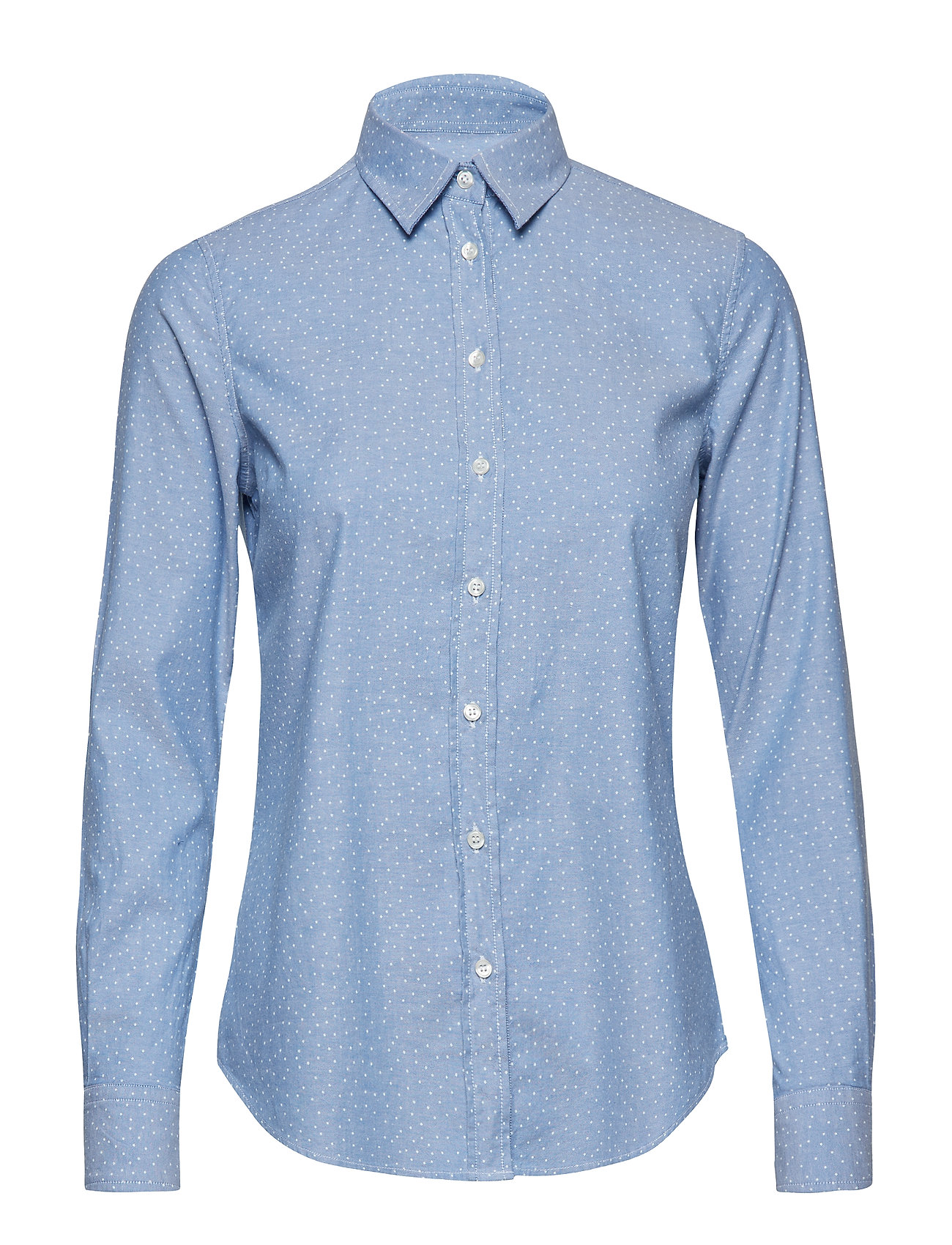 Gant O1. SNOWDOT OXFORD SHIRT - NAUTICAL BLUE