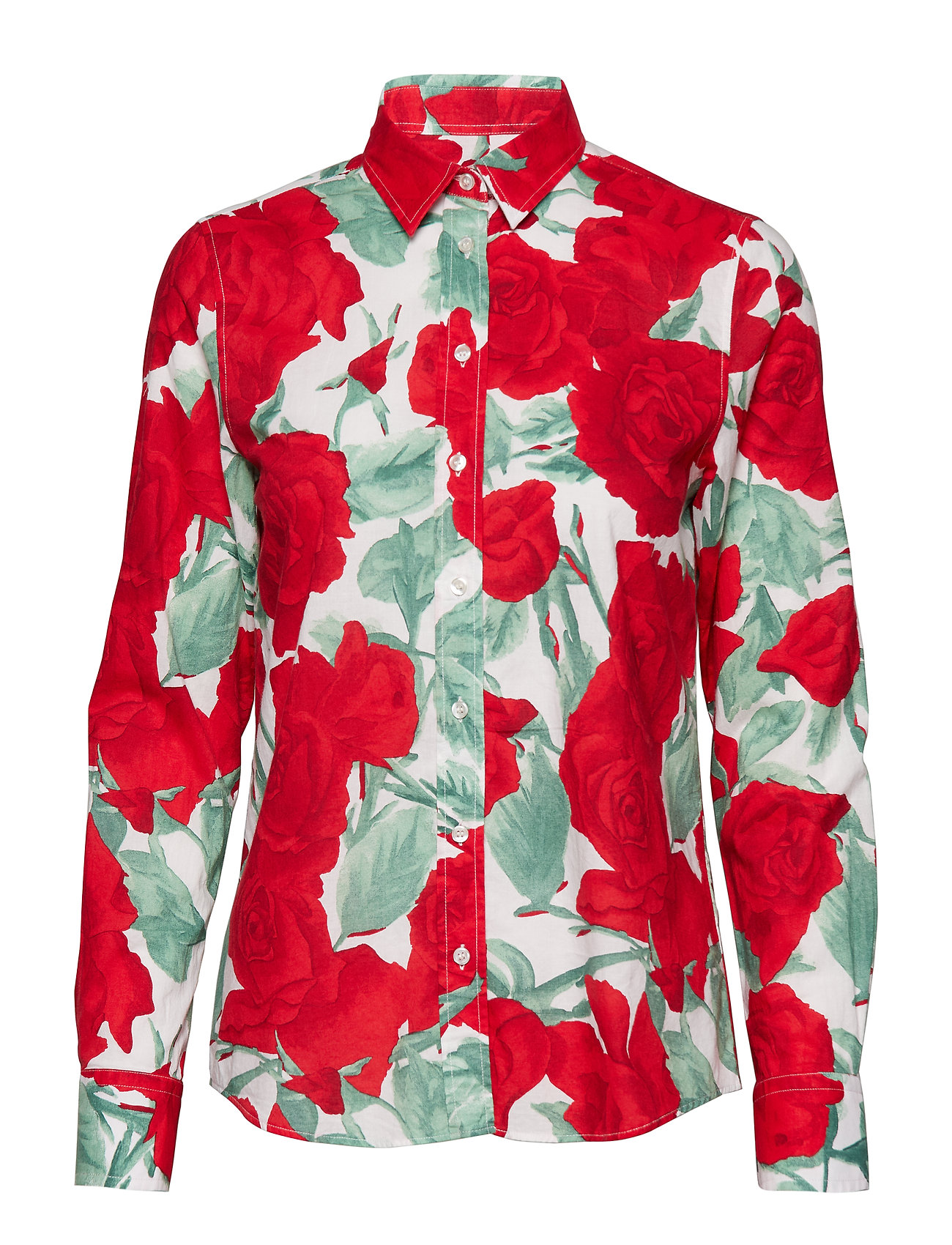 GANT O1. ROSE VOILE SHIRT - BRIGHT RED