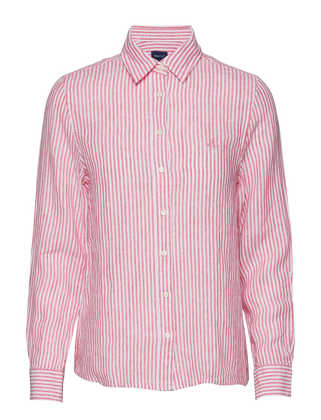c4638884b1 The Linen Chambray Stripe Shirt (Watermelon Red) (£76.30) - GANT ...