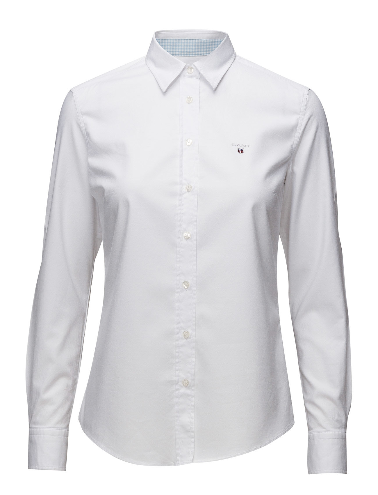 GANT STRETCH OXFORD SOLID - WHITE