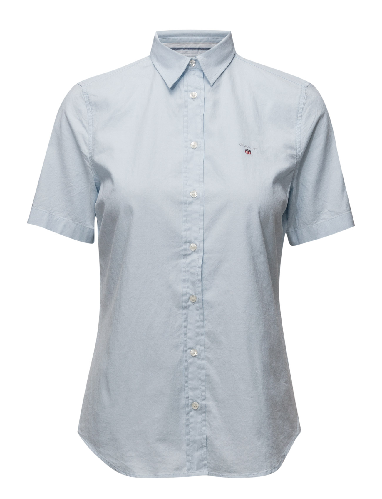 Image of Stretch Oxford Solid Ss Shirt (3117282671)