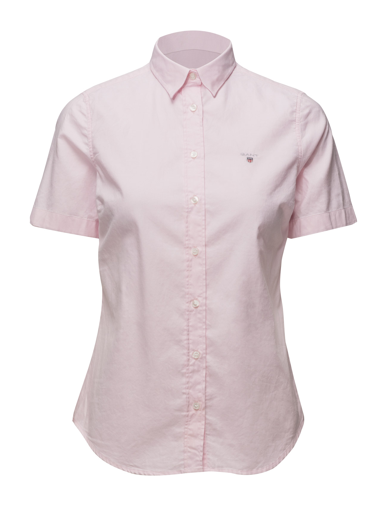 Image of Stretch Oxford Solid Ss Shirt (3117282673)