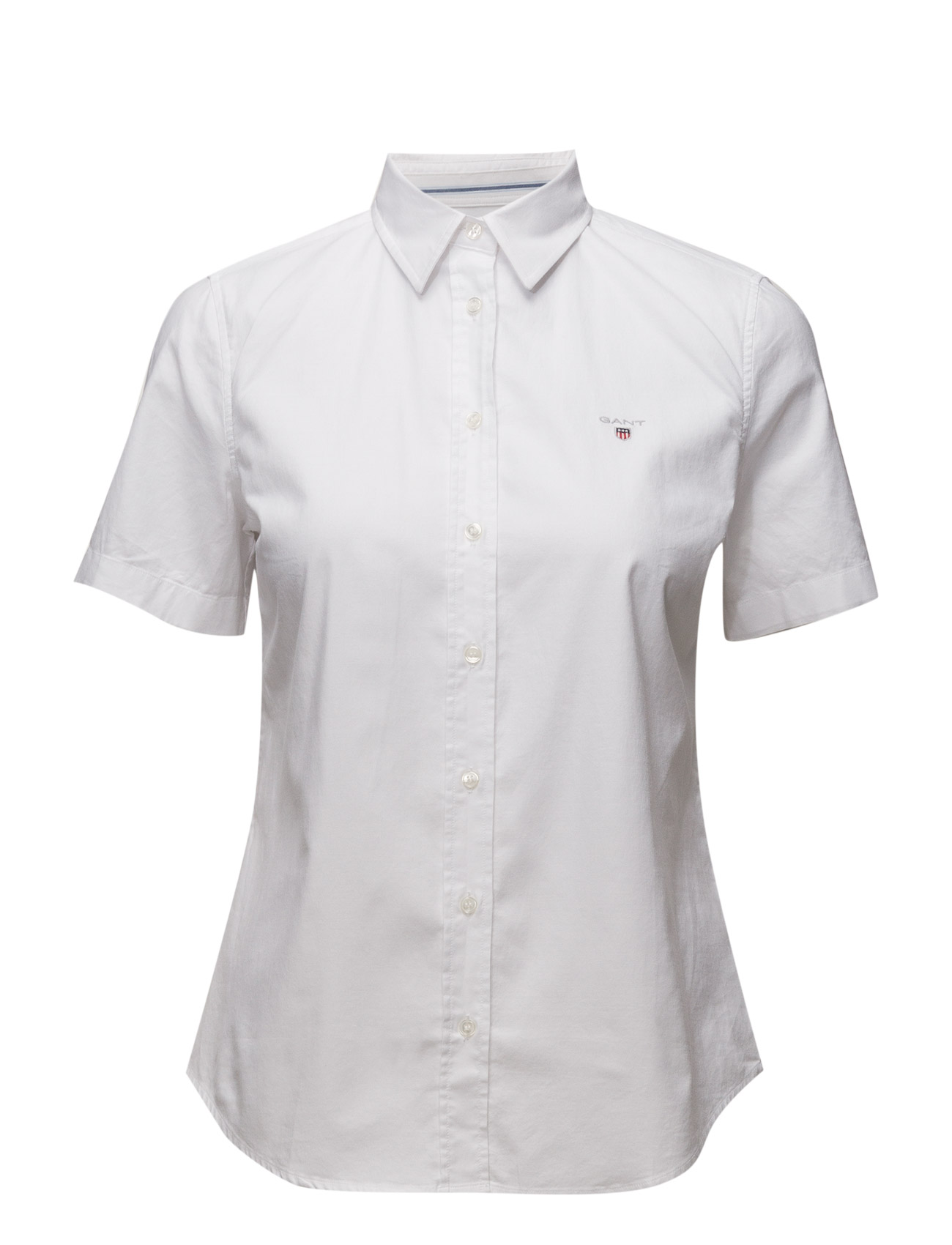 Image of Stretch Oxford Solid Ss Shirt (3117282669)
