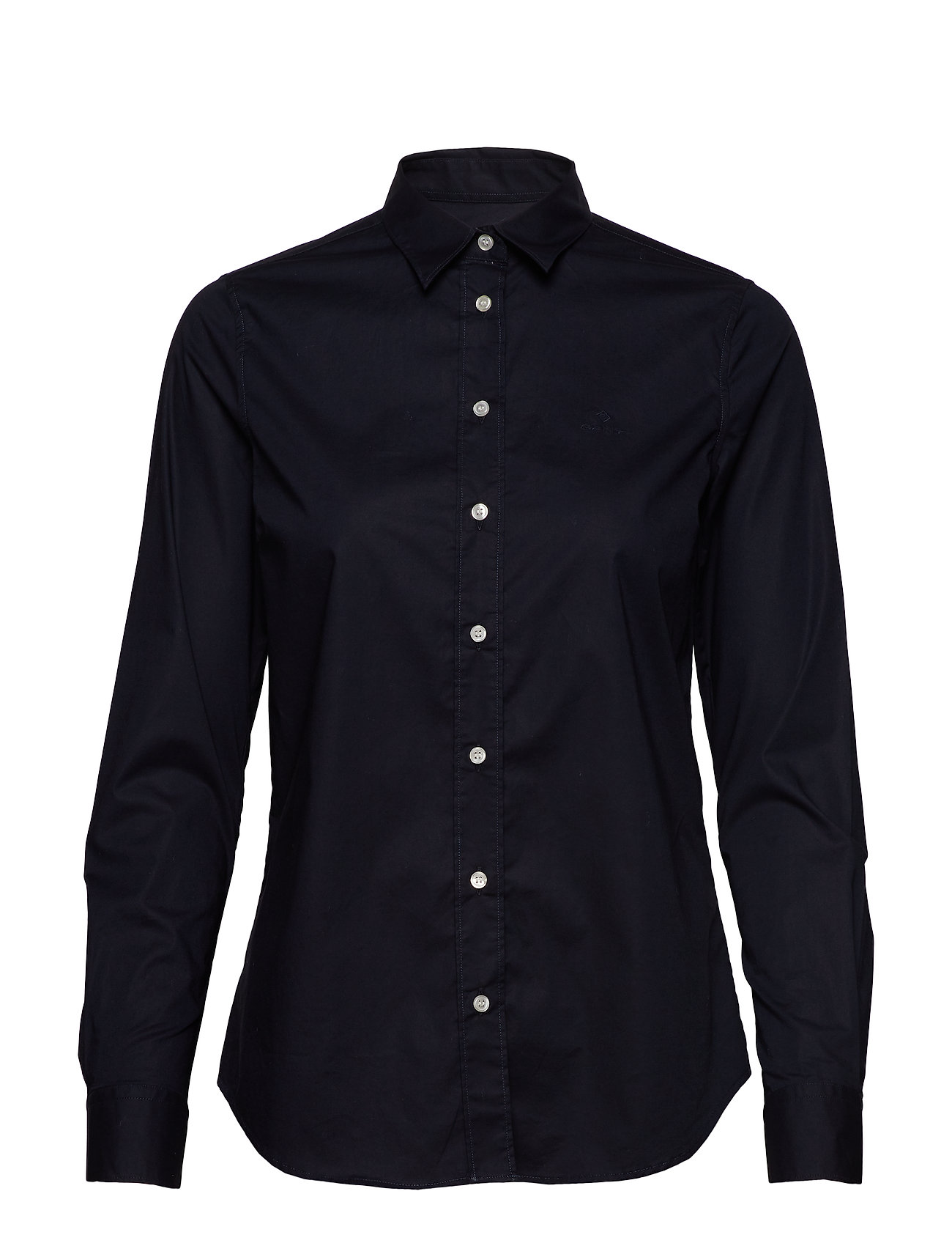 Gant SOLID STRETCH BROADCLOTH SHIRT - EVENING BLUE