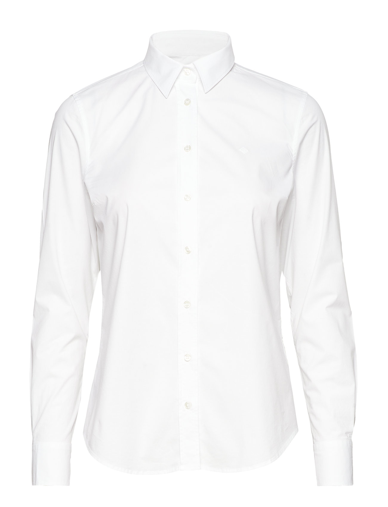 GANT SOLID STRETCH BROADCLOTH SHIRT - WHITE