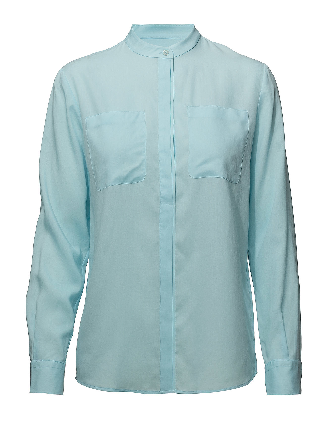 Gant G. TENCEL BLOUSE - GLOW BLUE