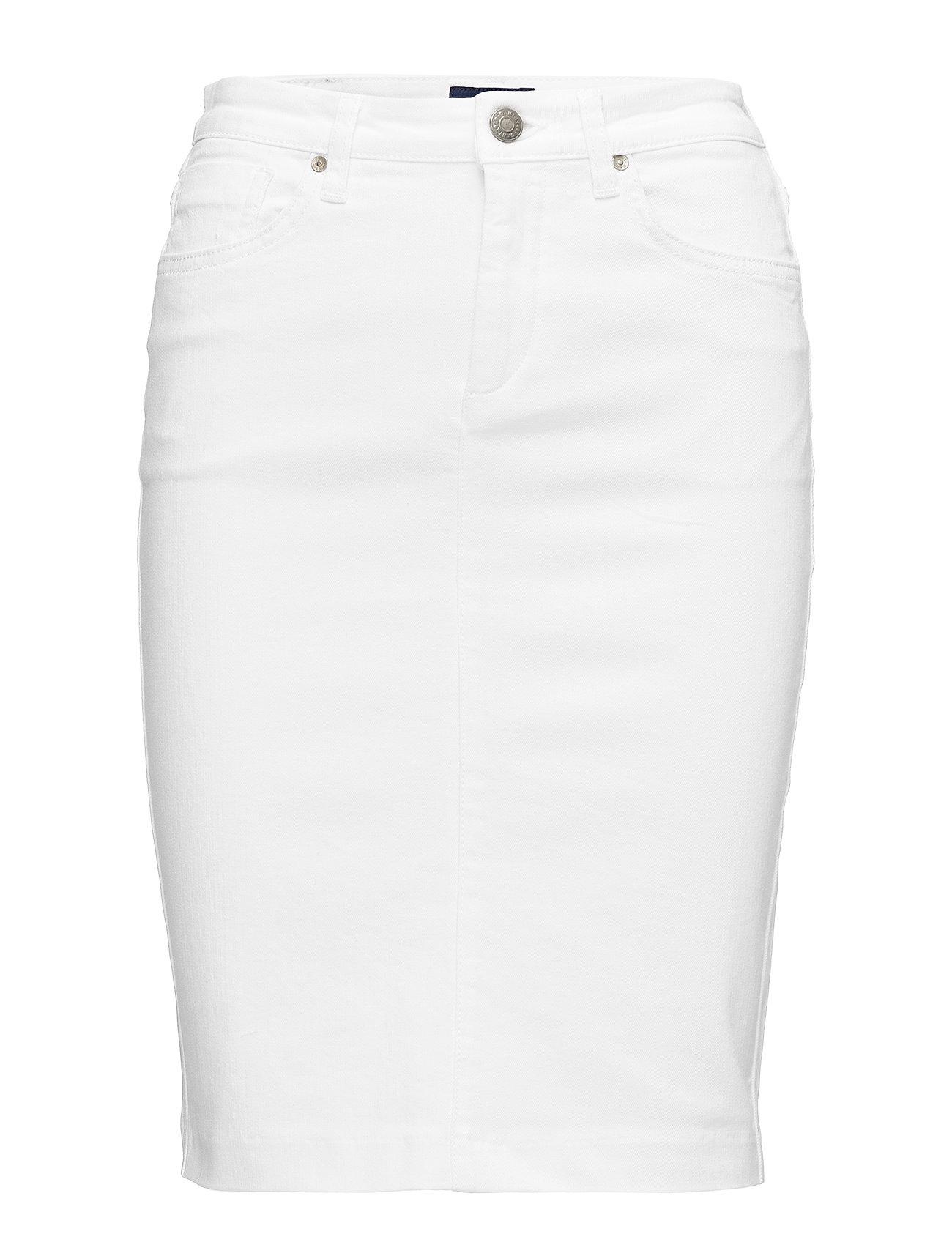 GANT D1. WHITE DENIM SKIRT - WHITE