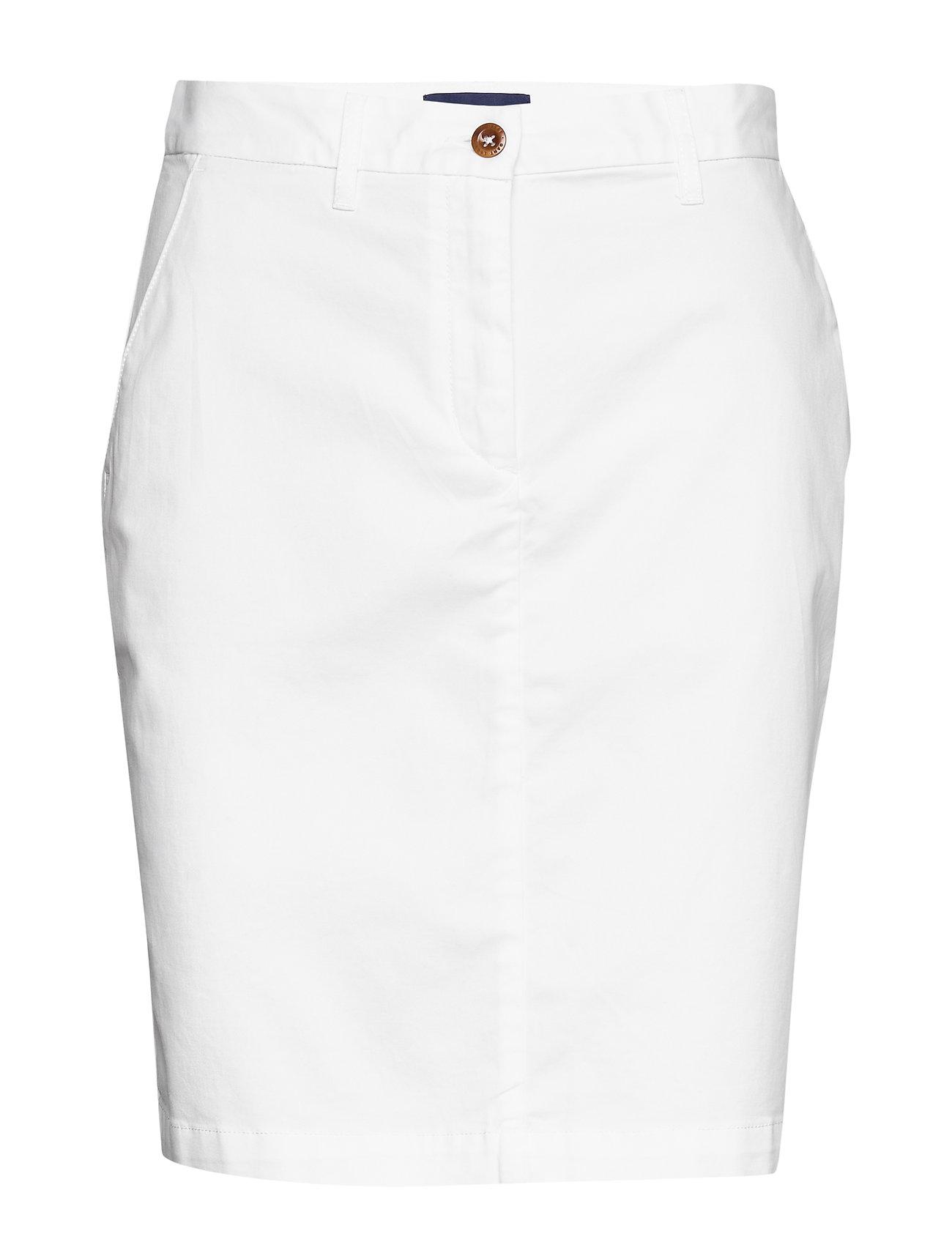 Gant D1. CLASSIC CHINO SKIRT - WHITE