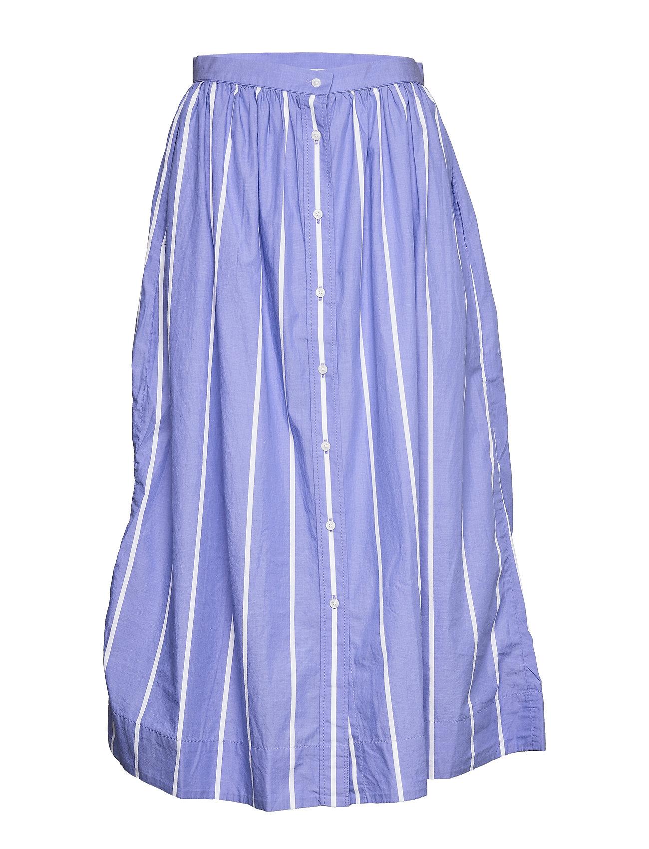 Gant D2. STRIPED SHIRT SKIRT - PERIWINKLE BLUE