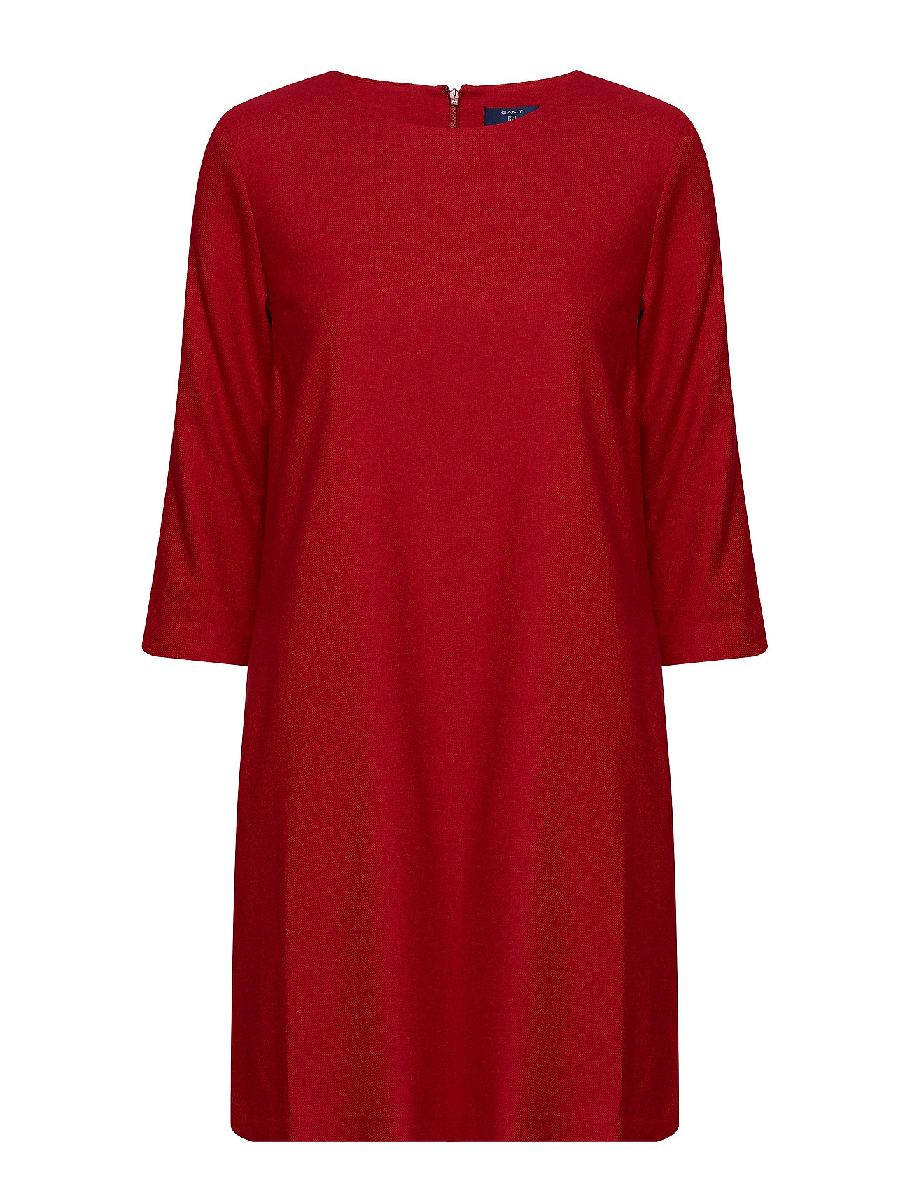 GANT O1.WASHABLE FLANNEL DRESS - RED