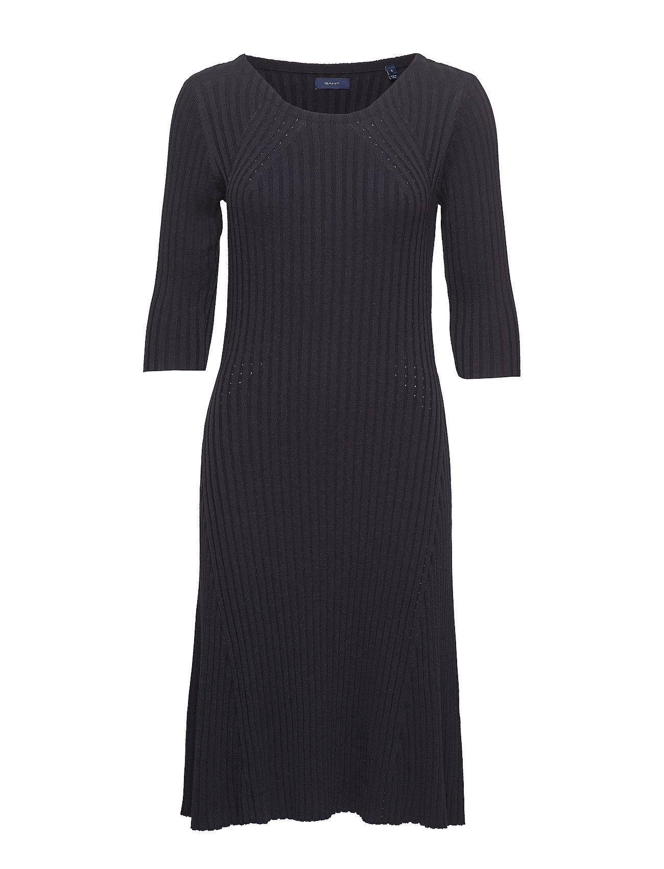 Image of D1. Knitted Dress Knælang Kjole Blå GANT (3182128987)
