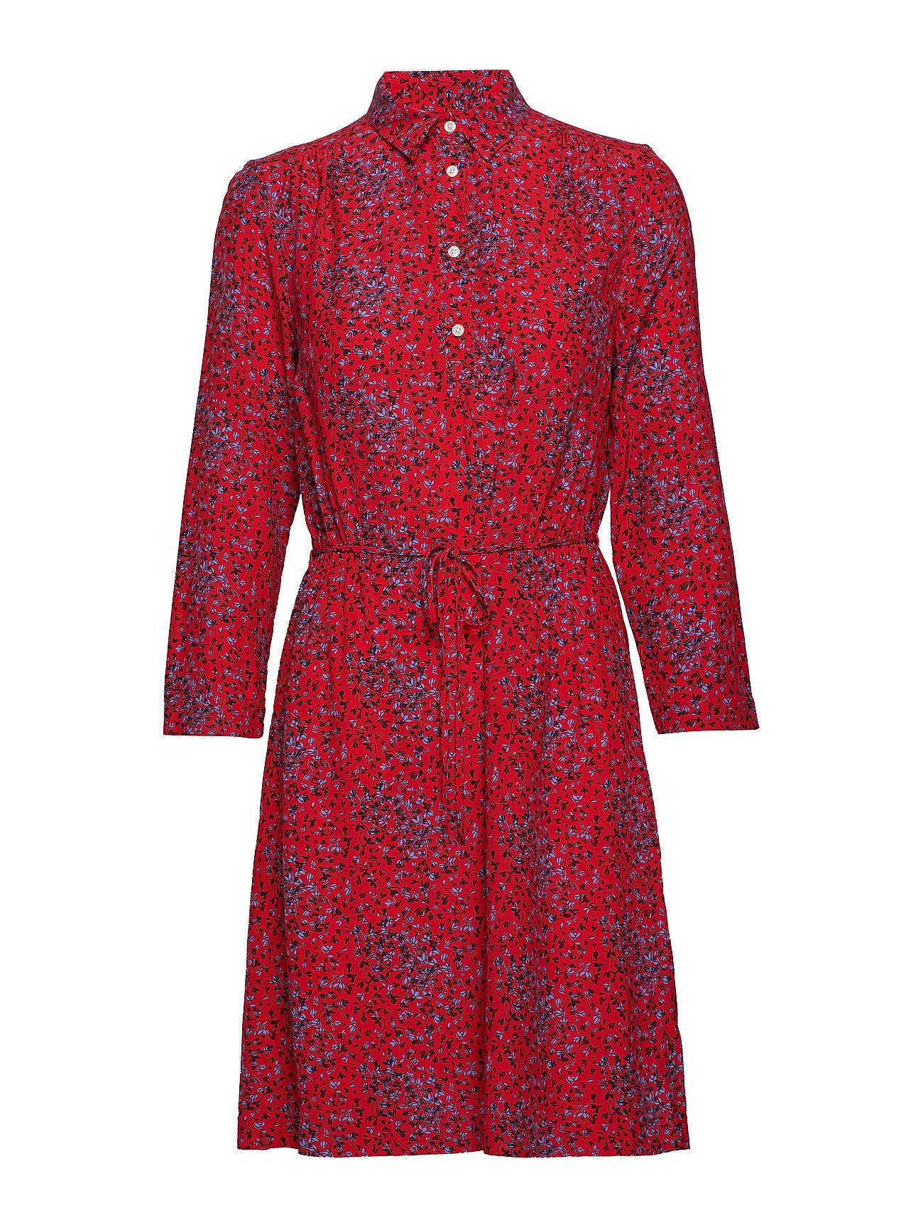 Gant O2. SNOWDROP SPREAD SHIRT DRESS - RED
