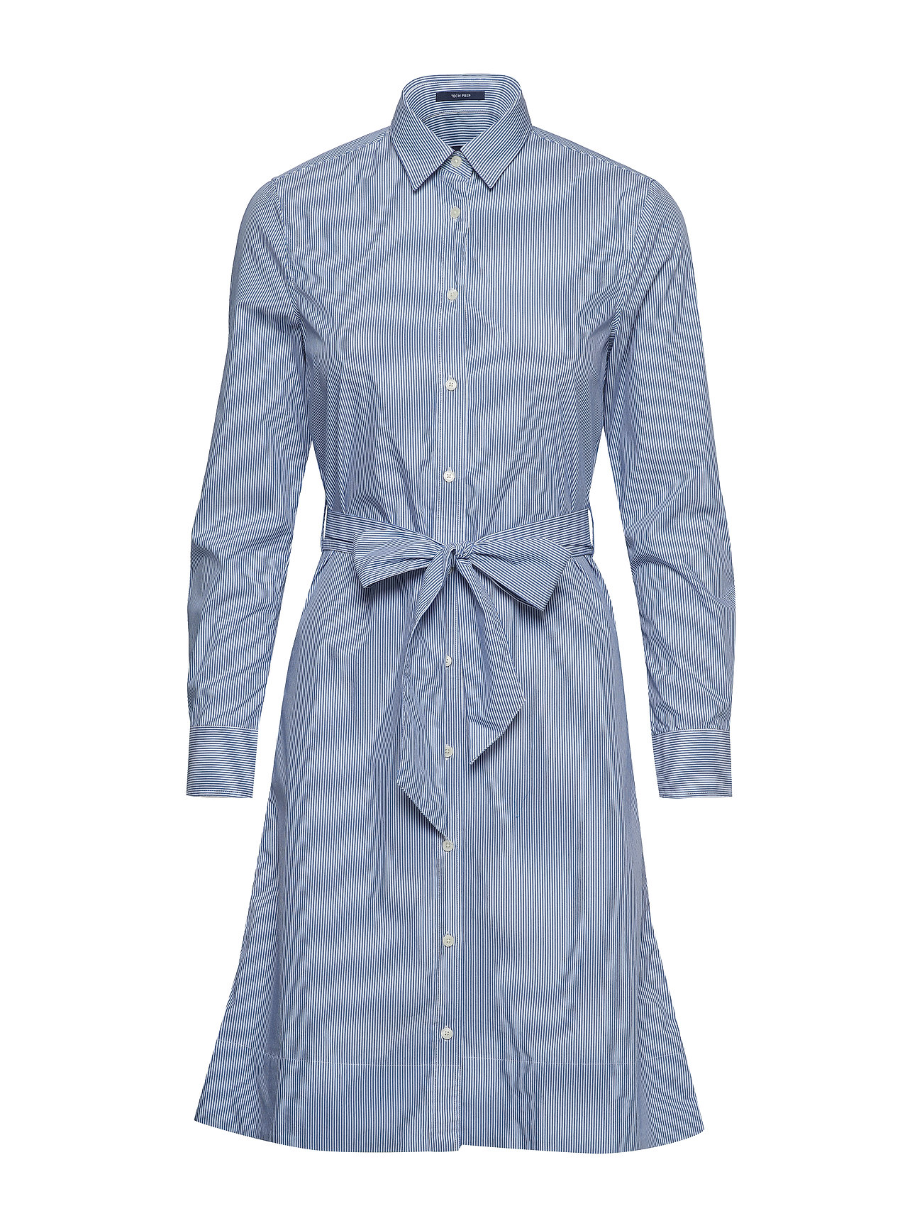 GANT O1. TP FINE STRIPED SHIRT DRESS - NAUTICAL BLUE