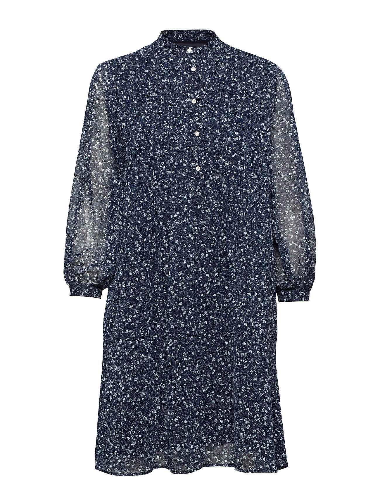 GANT O1. PRINTED CHIFFON DRESS