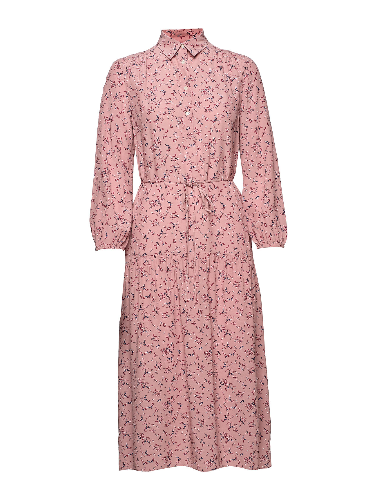 Gant D1. MULTI FLORAL SHIRT DRESS - ASH ROSE