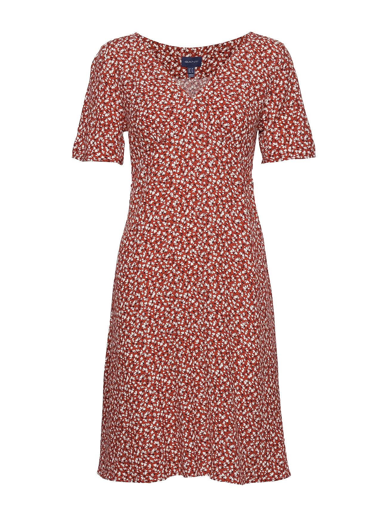 Gant D2. SUMMER FLORAL DRESS - IRON RED