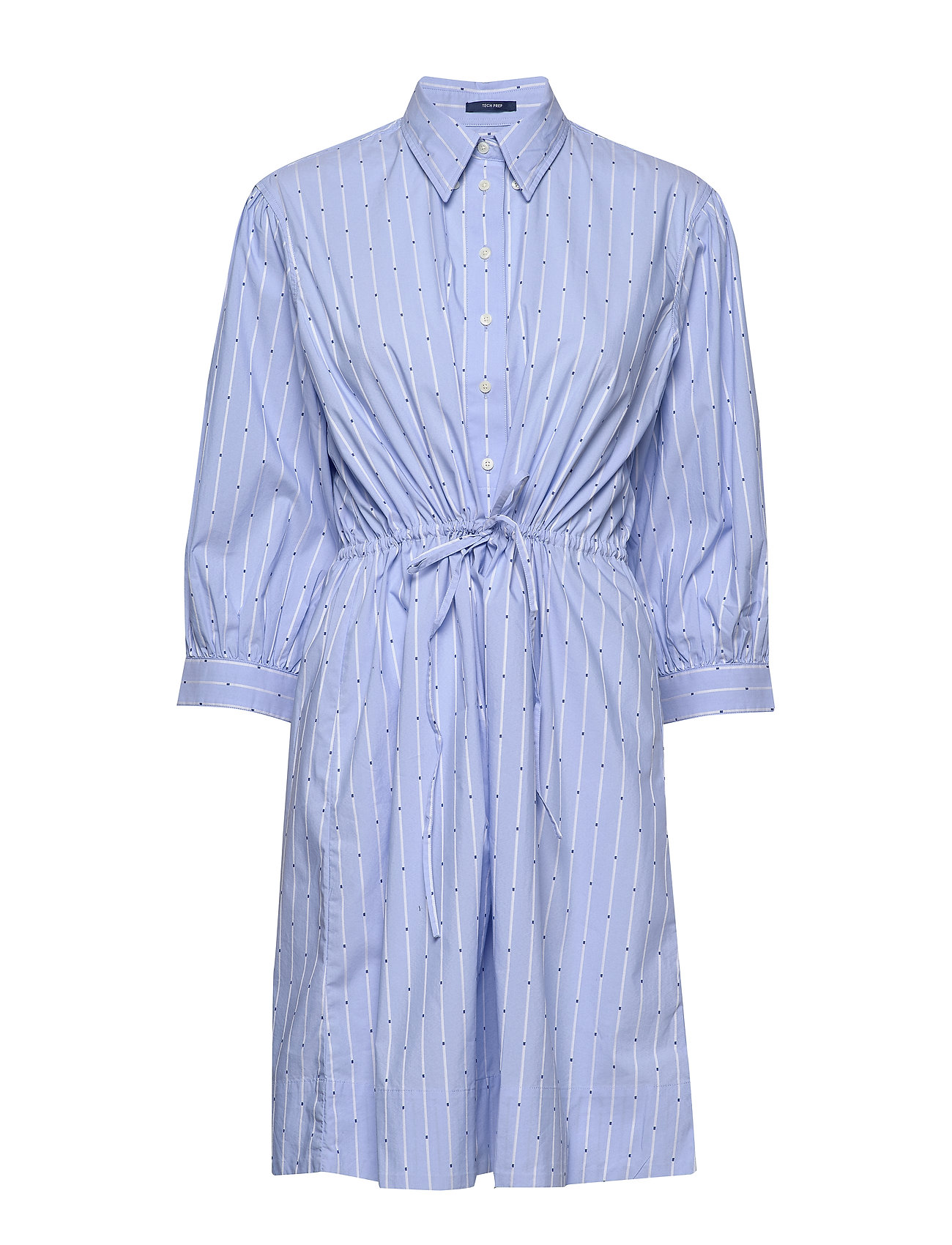Gant D1. TP DOBBY DRAWSTRING DRESS - PACIFIC BLUE