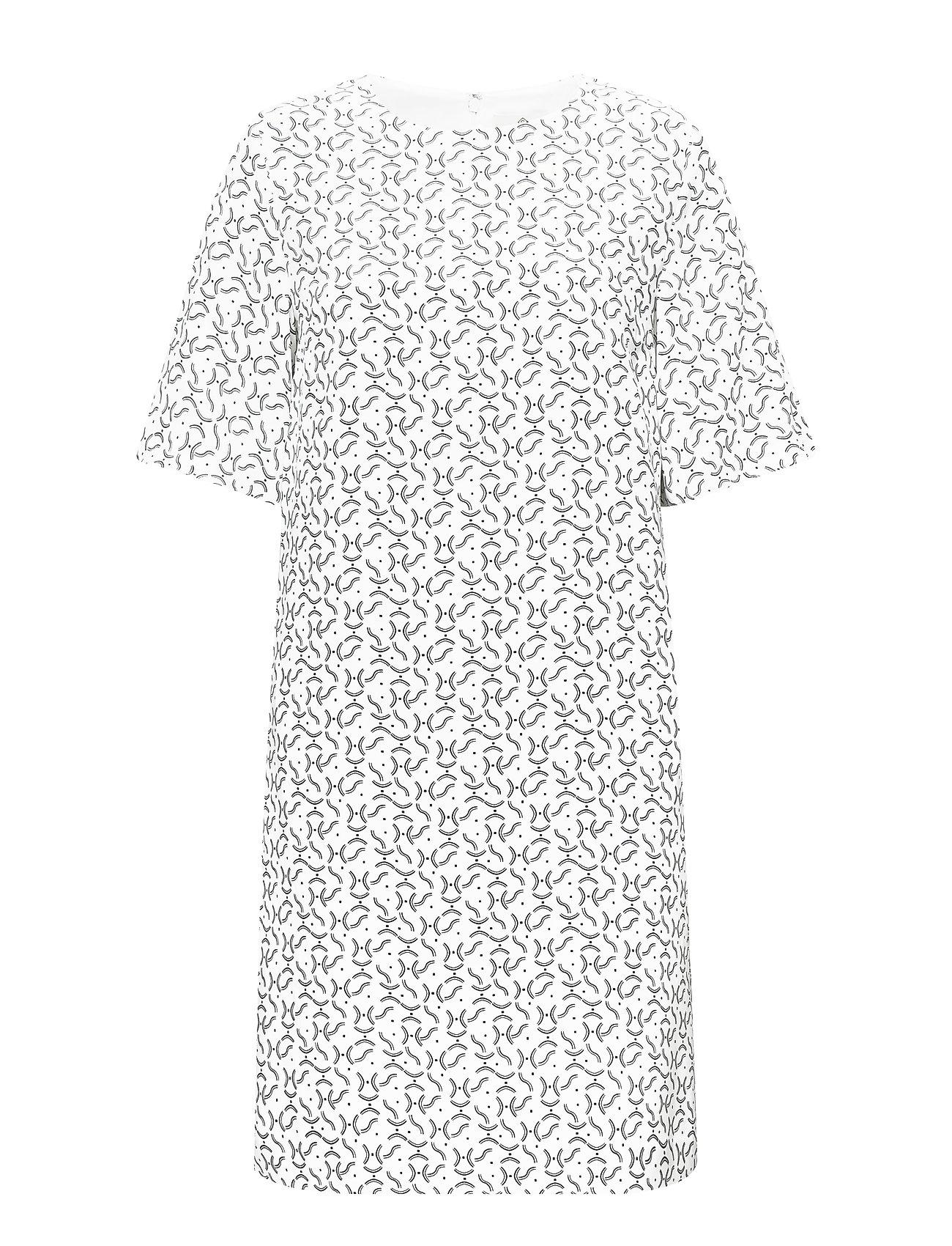 Gant G1. PRINTED DRESS - EGGSHELL