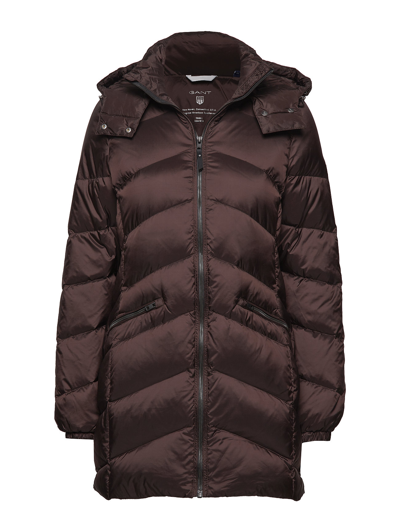 GANT O2. CLASSIC LONG DOWN JACKET - BLACK COFFEE