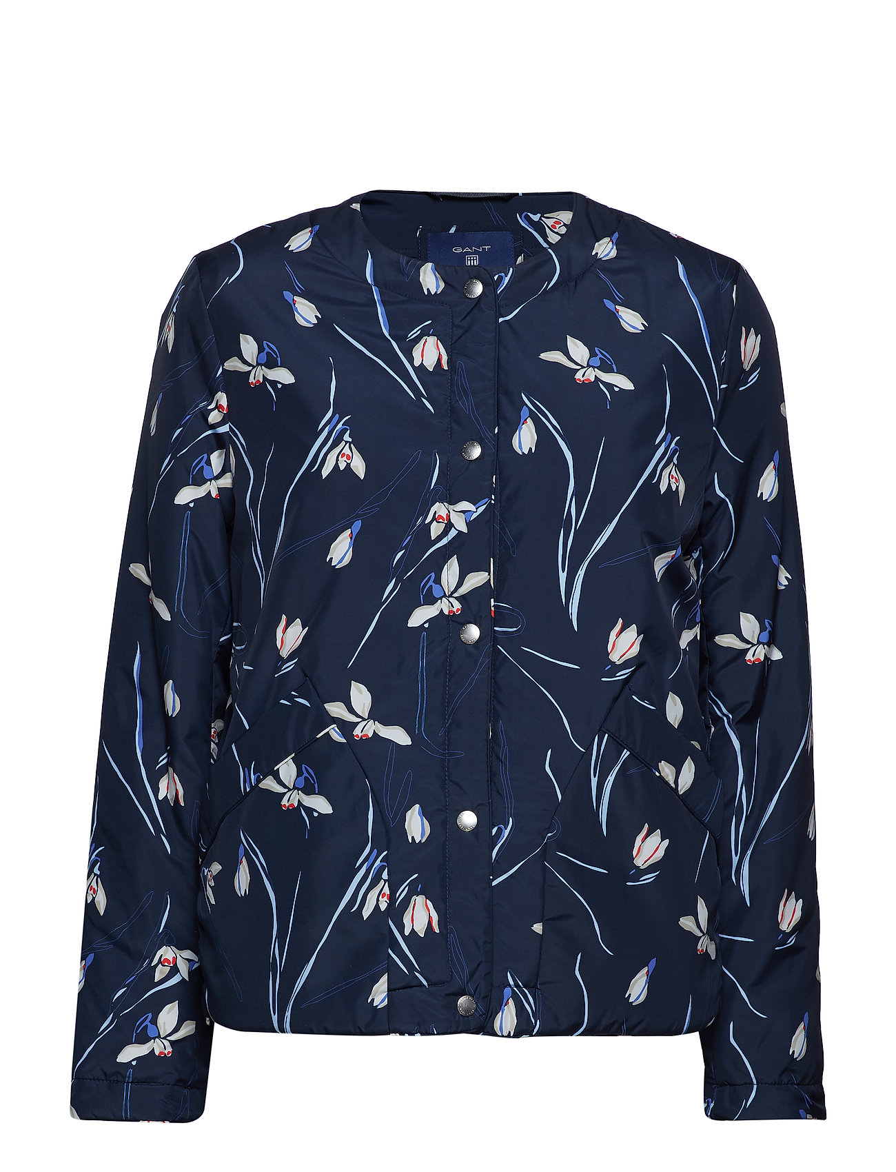 Gant O2. PRINTED COLLARLESS JACKET - MARINE
