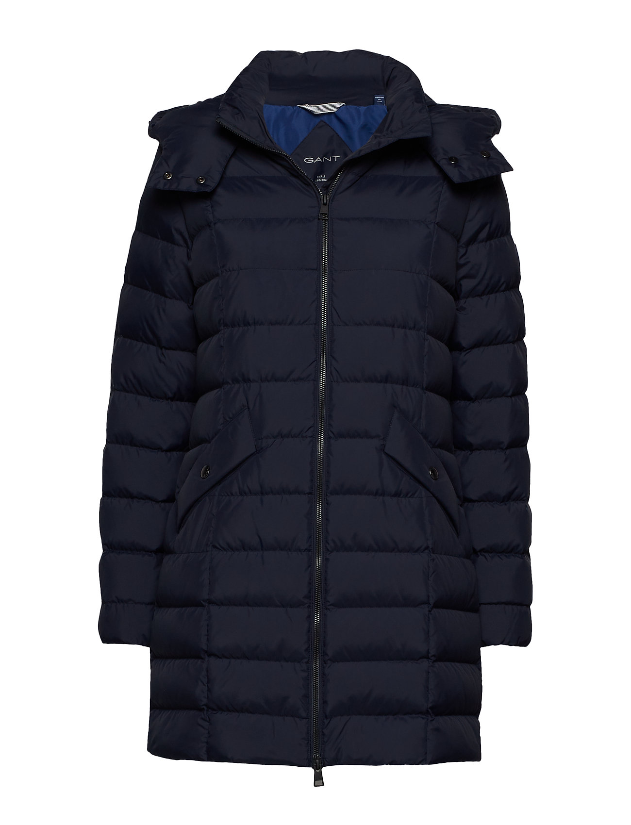 GANT D2. CLASSIC DOWN LONG JACKET - EVENING BLUE