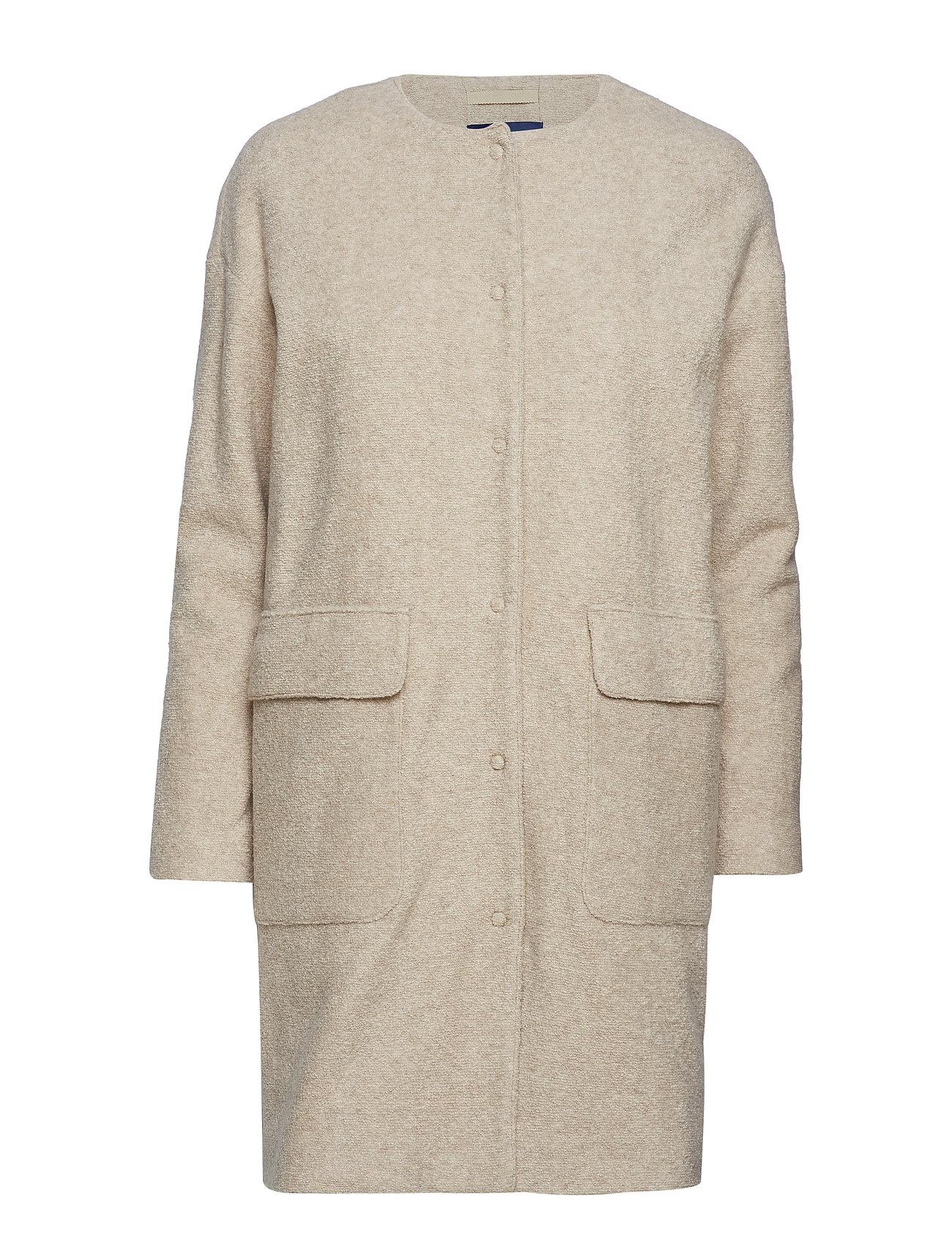 0fac28409 O2. Collarless Boiled Wool Coat (Manila Melange) (£245) - GANT ...