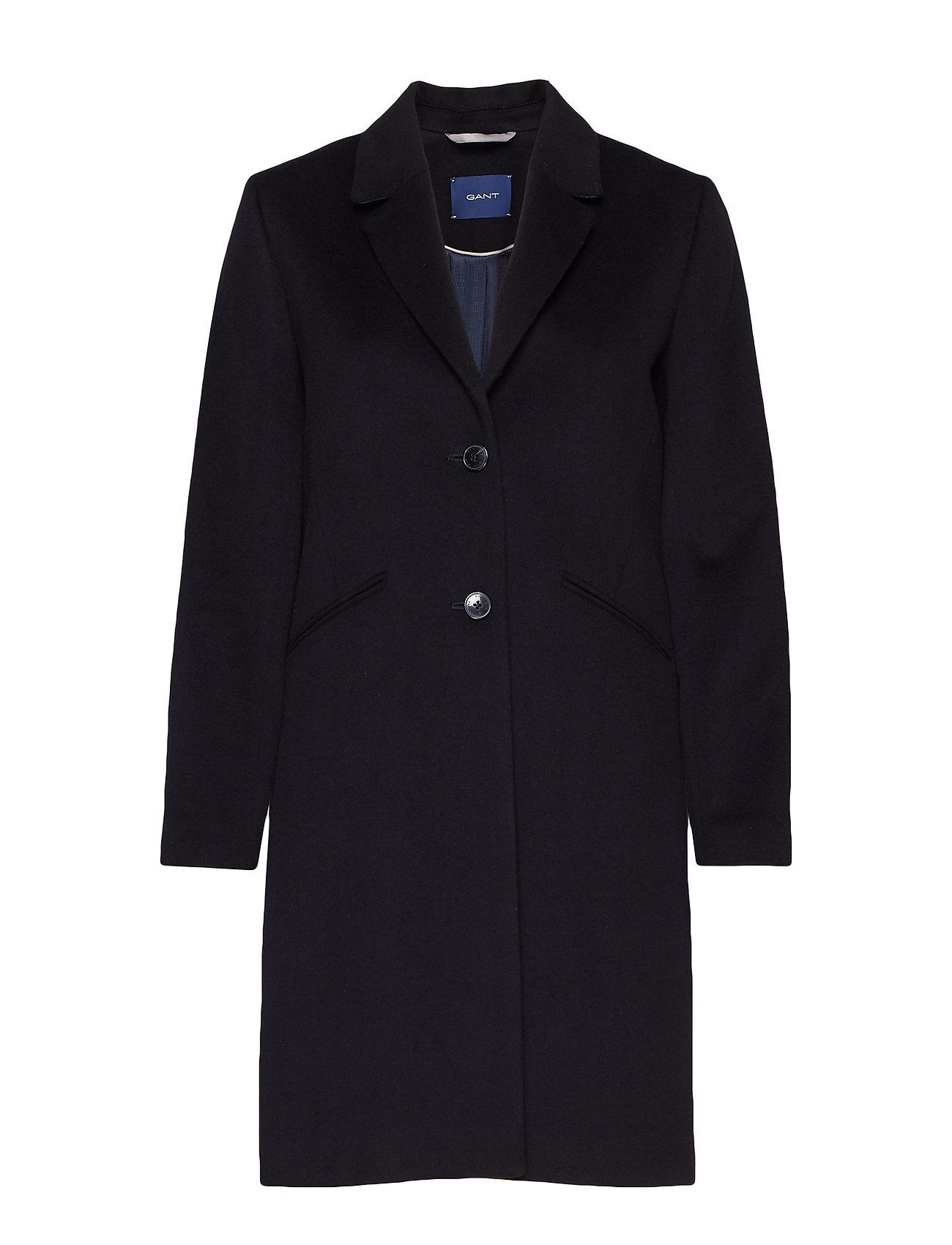 Gant D1. CLASSIC  TAILORED COAT - BLACK