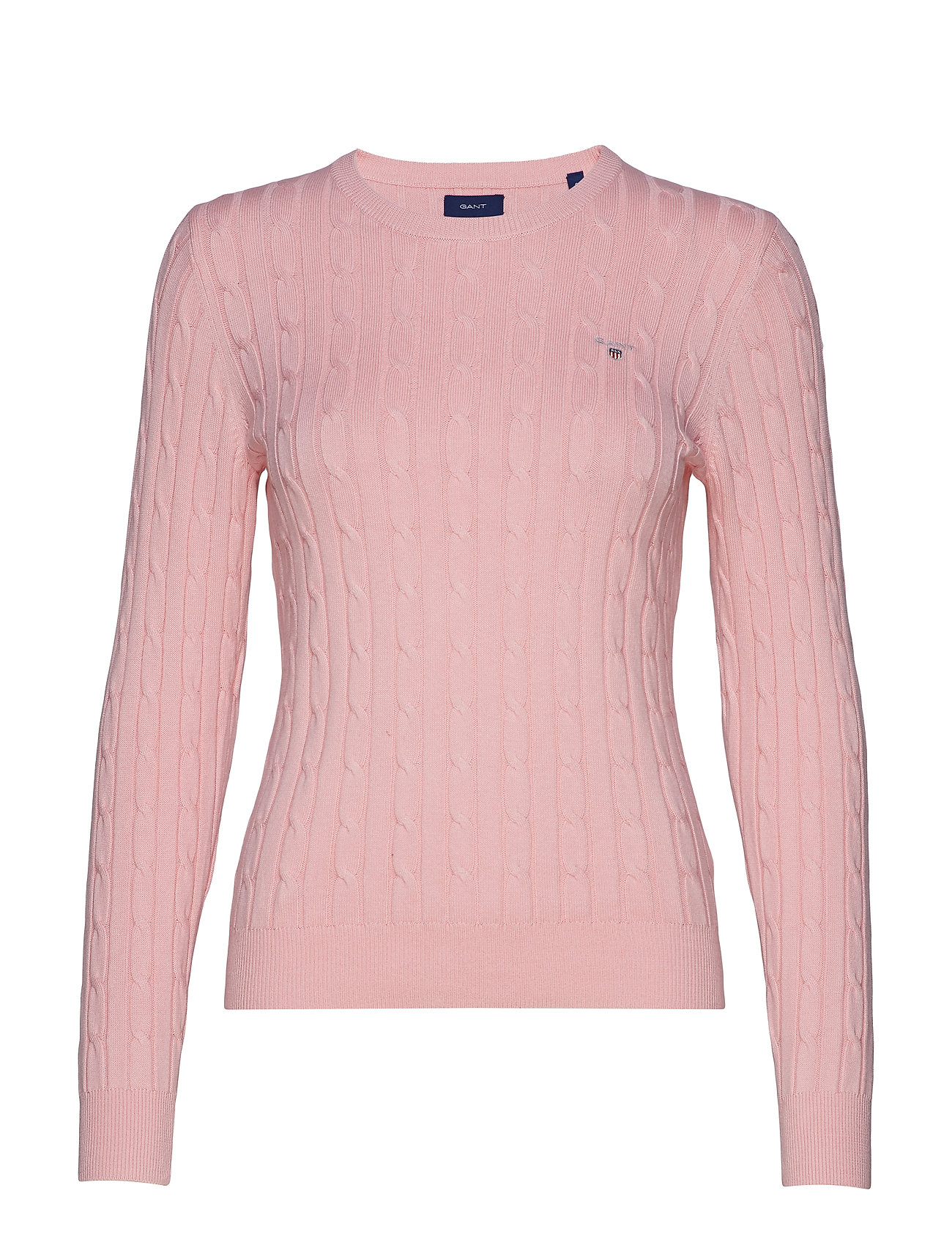 GANT STRETCH COTTON CABLE CREW - PREPPY PINK