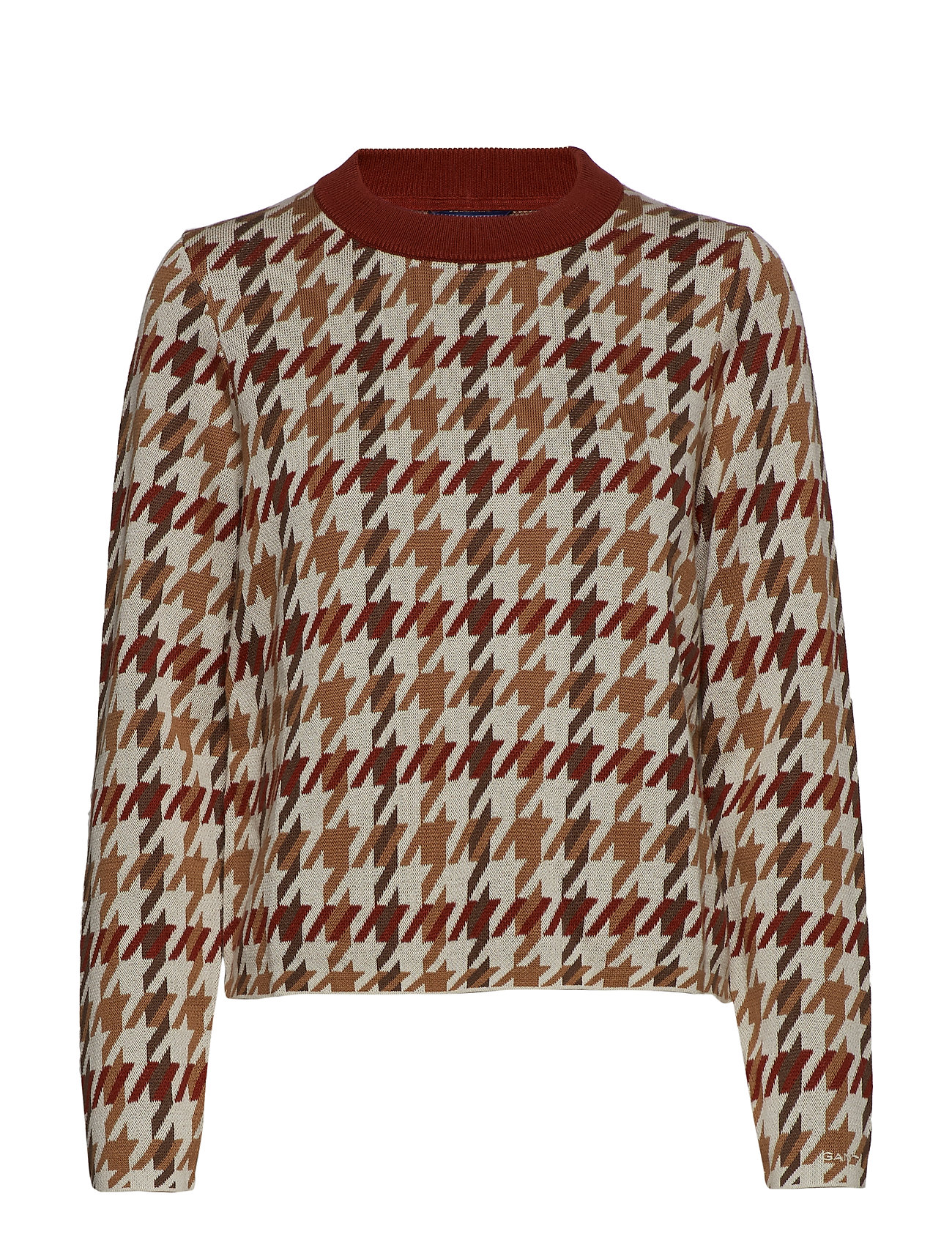 GANT D1. CHECKED PATTERNED CREW - ALL OVER PRINT