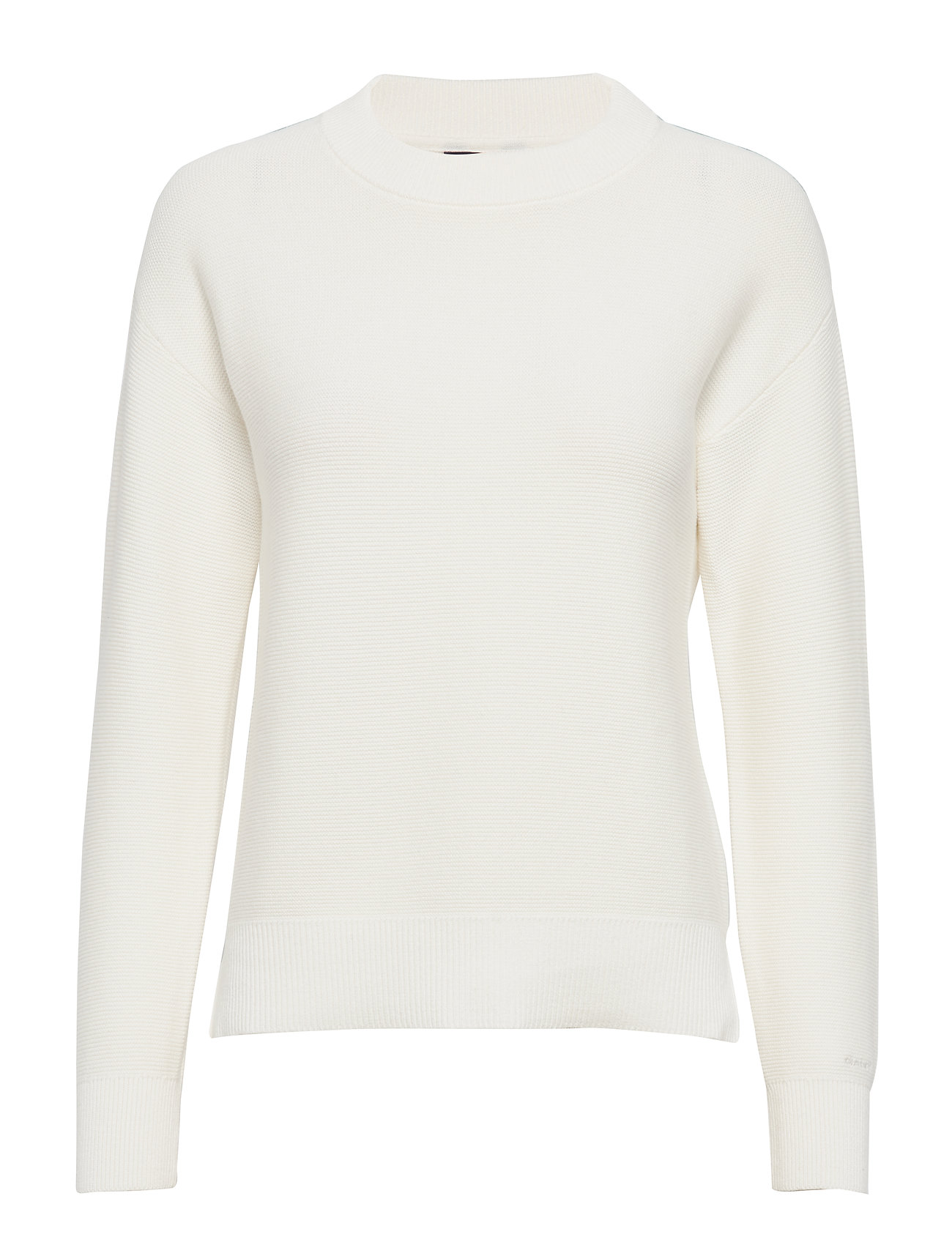 Gant D1. TEXTURED COTTON CREW - EGGSHELL